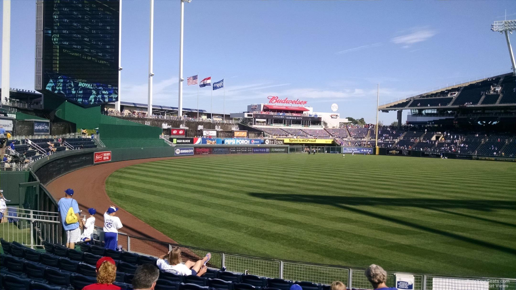 Kauffman Stadium Section 107 - RateYourSeats.com