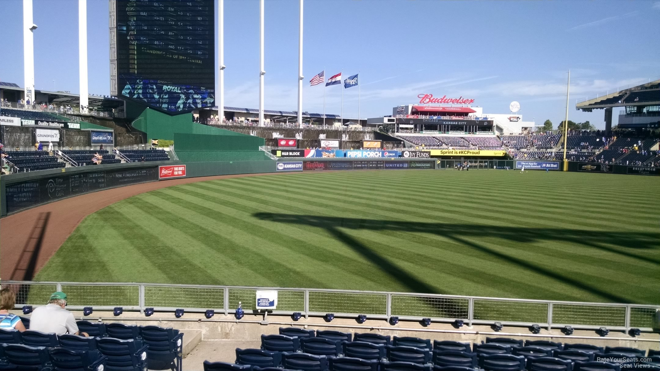 Kauffman Stadium Section 109 - RateYourSeats.com
