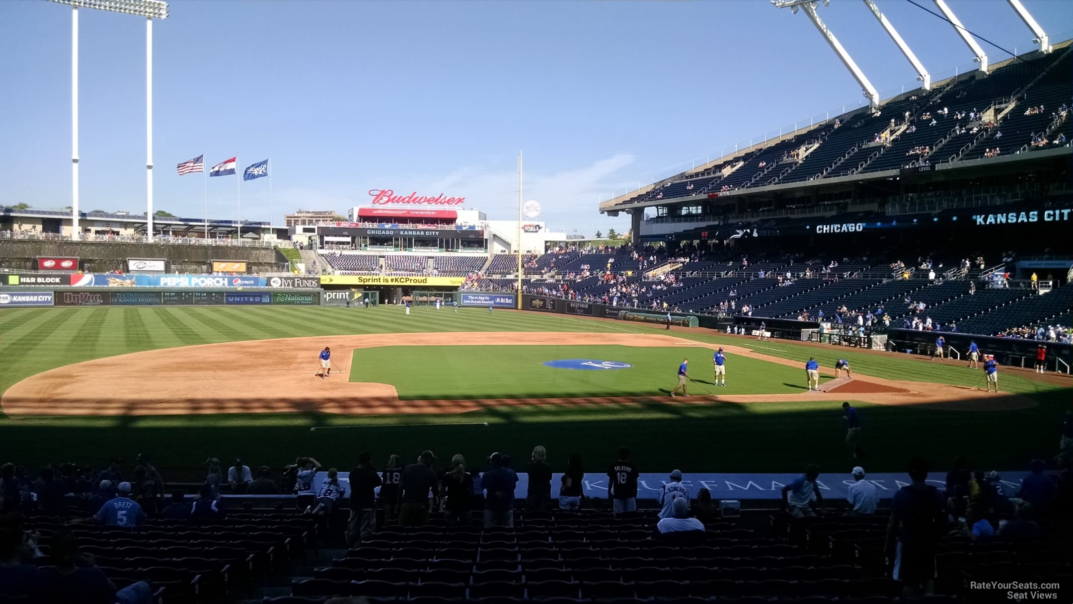 Seat View for Kauffman Stadium Section 120, Row S