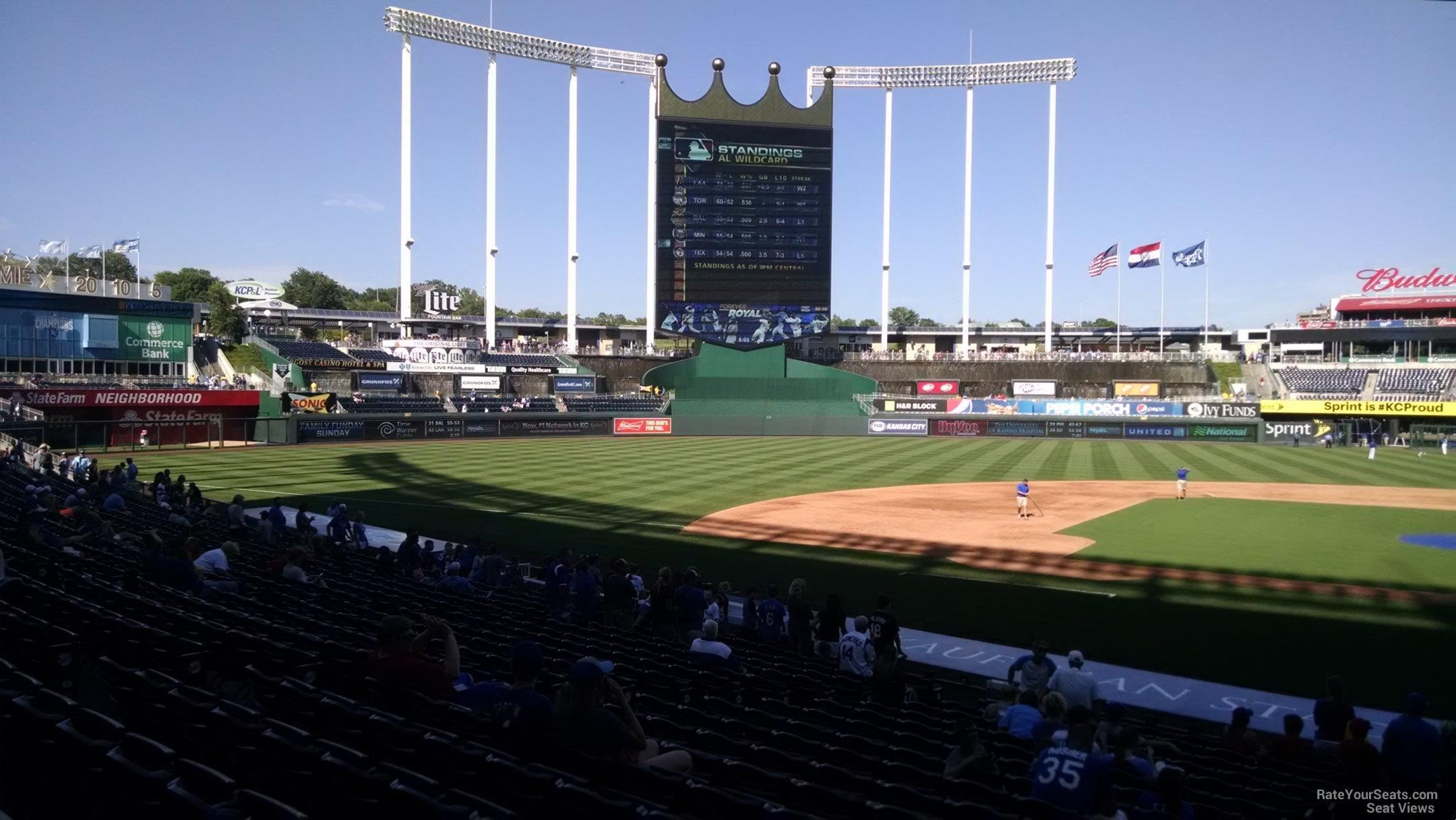 Kauffman Stadium Section 122 - RateYourSeats.com