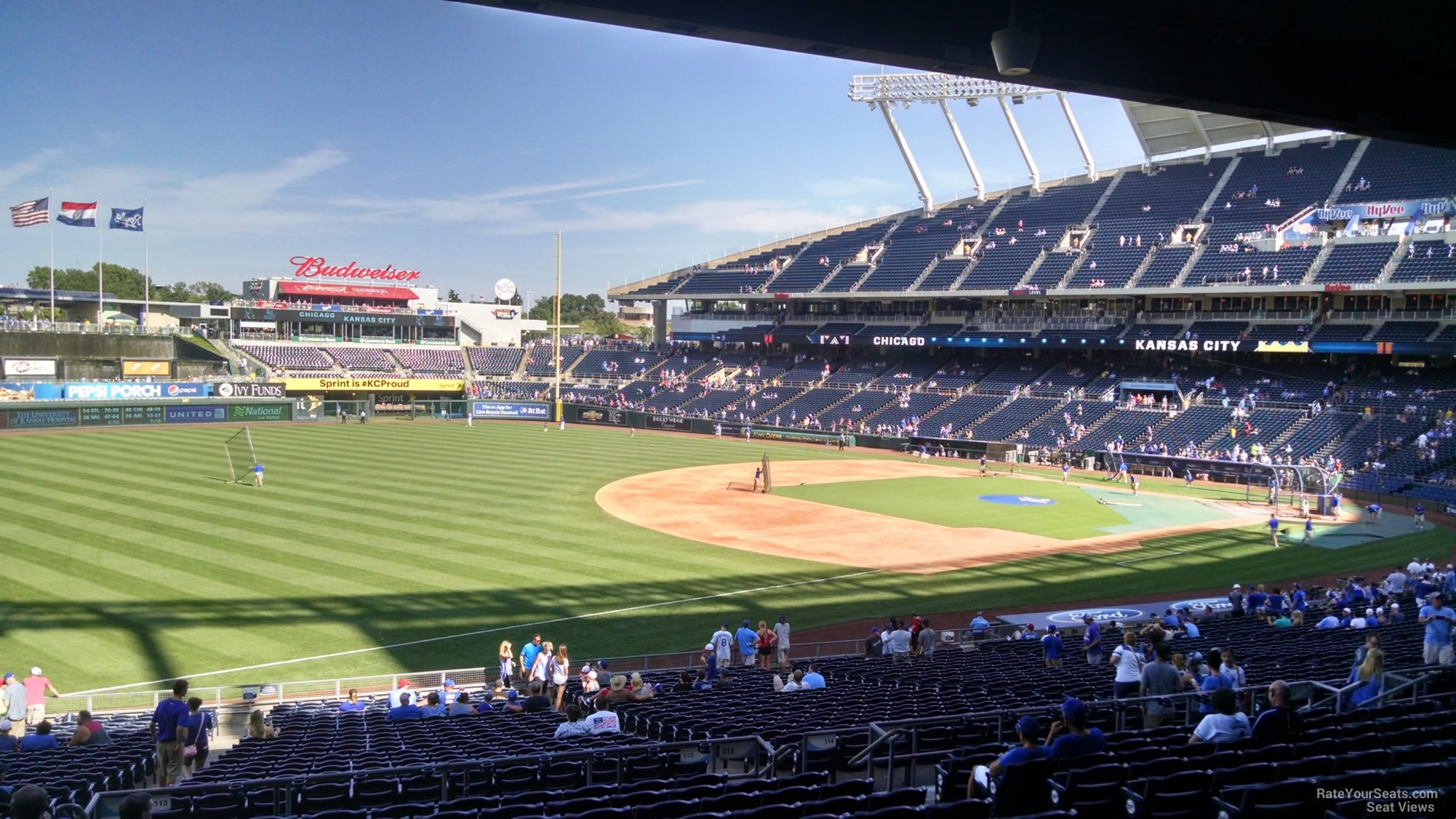Kauffman Stadium Section 213 - RateYourSeats.com