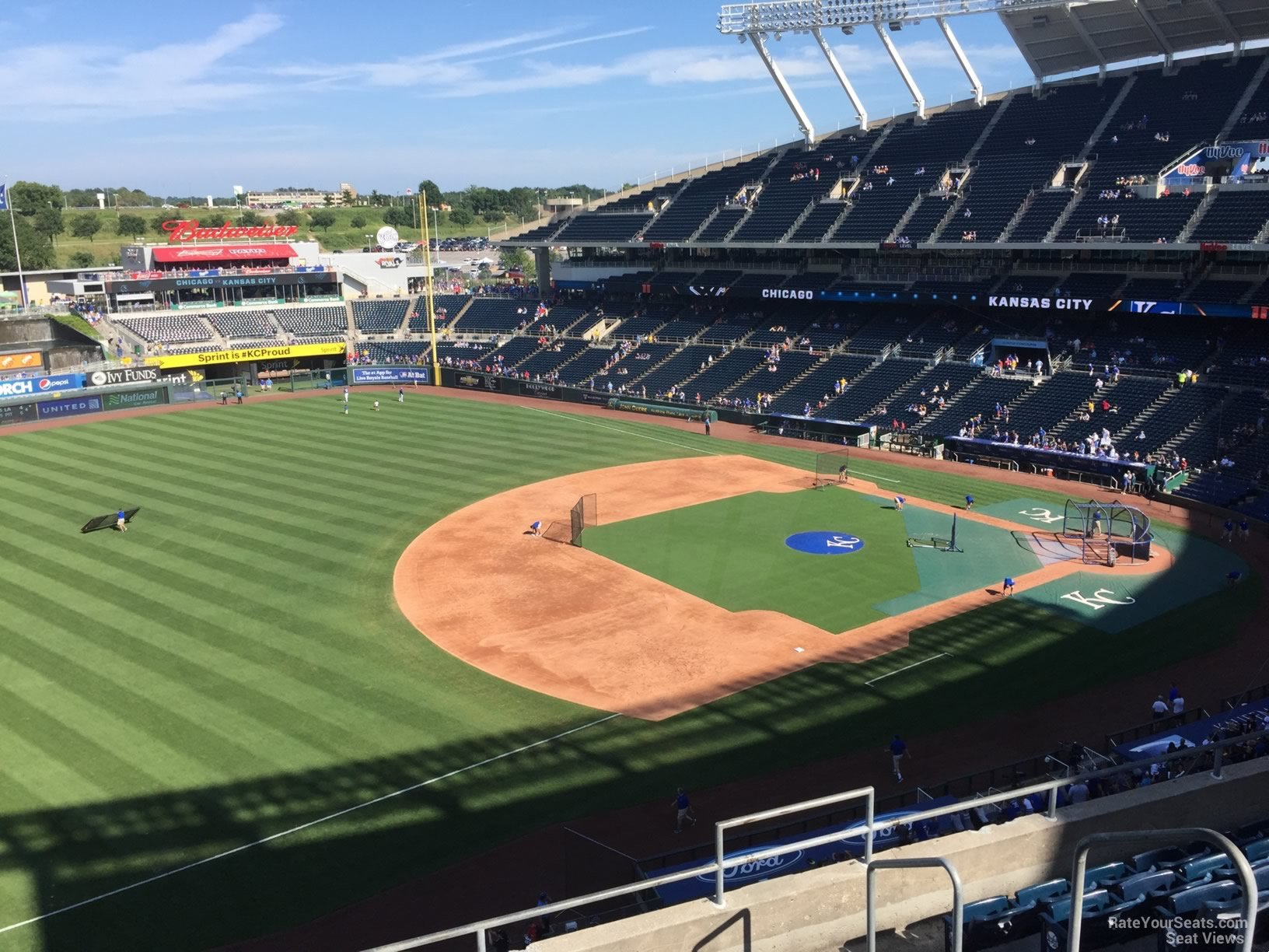 Seat View for Kauffman Stadium Section 406, Row H