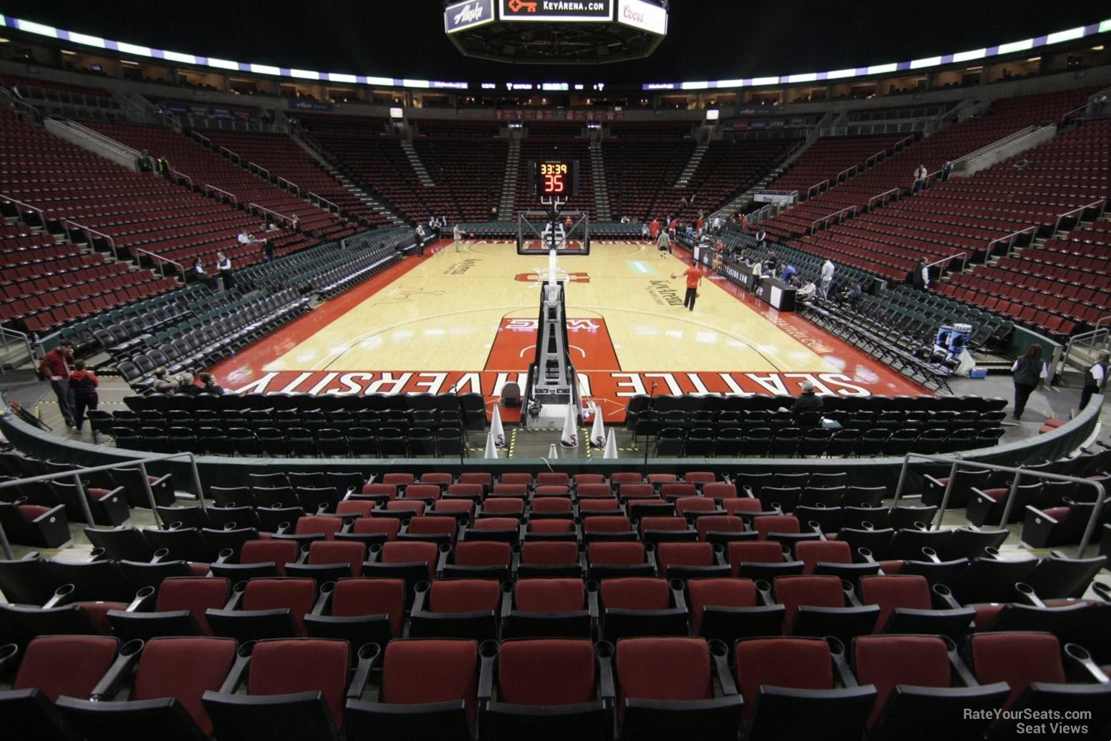 Keyarena section 107 basketball seating rateyourseats com