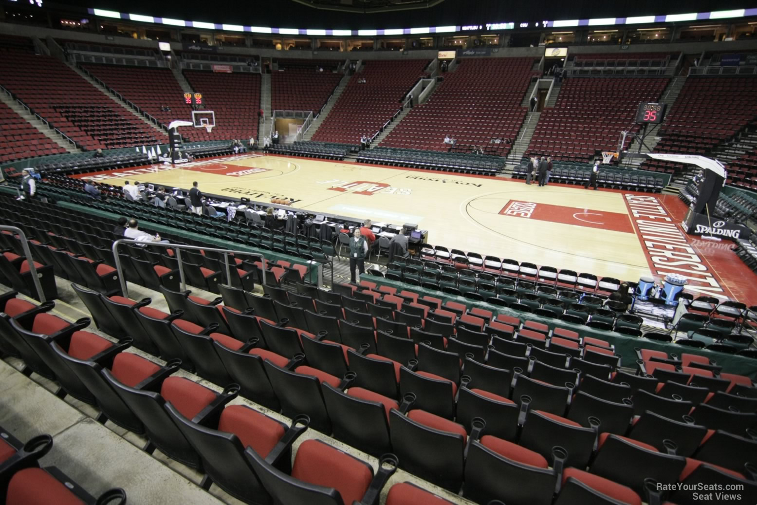 Seat View for KeyArena Section 115, Row 10
