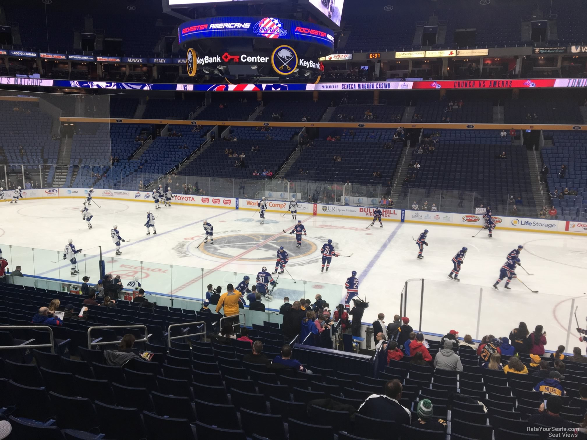 Buffalo Sabres Seat View for KeyBank Center Section 104