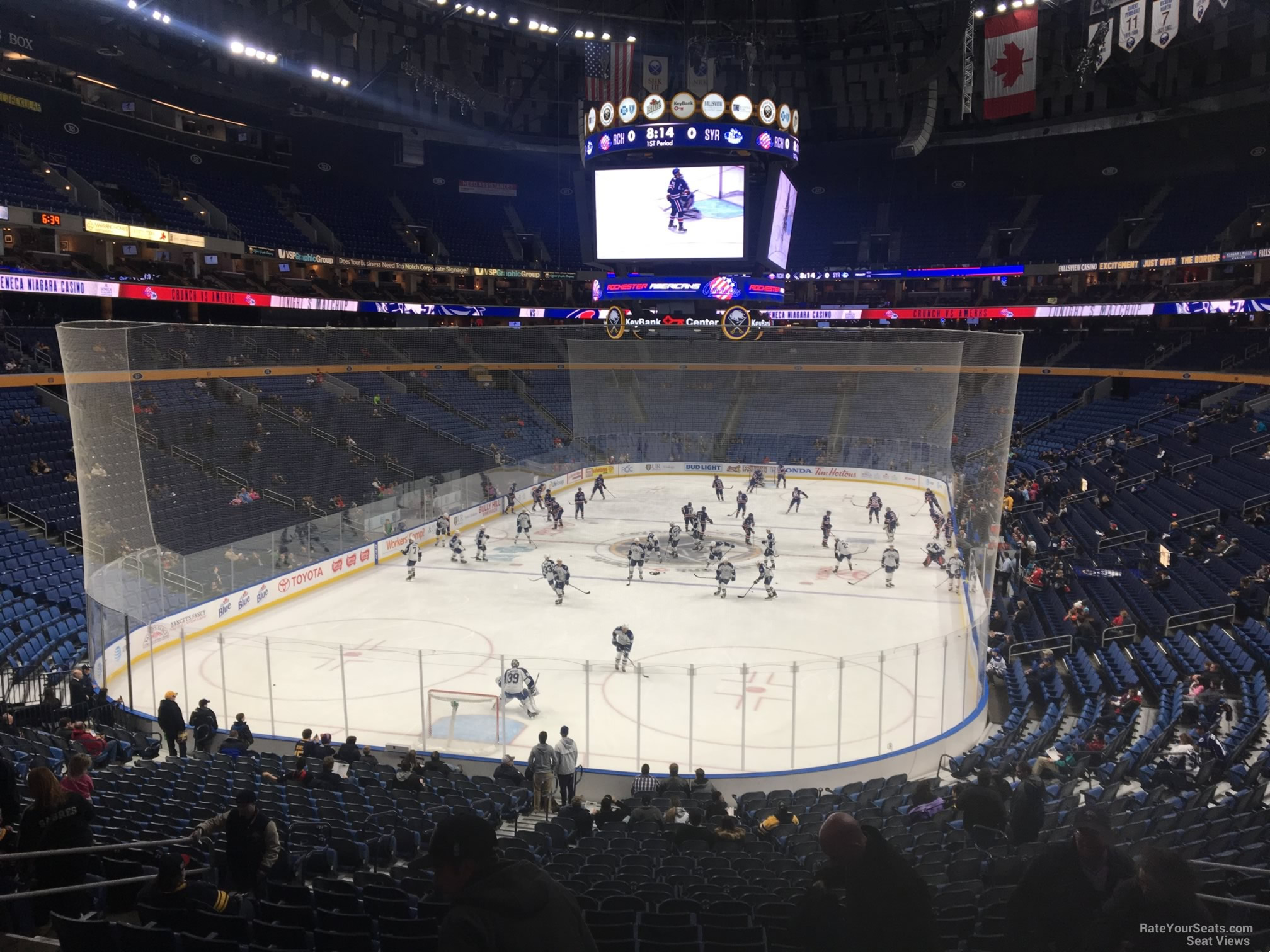 Buffalo Sabres Seat View for KeyBank Center Section 110, Row 22