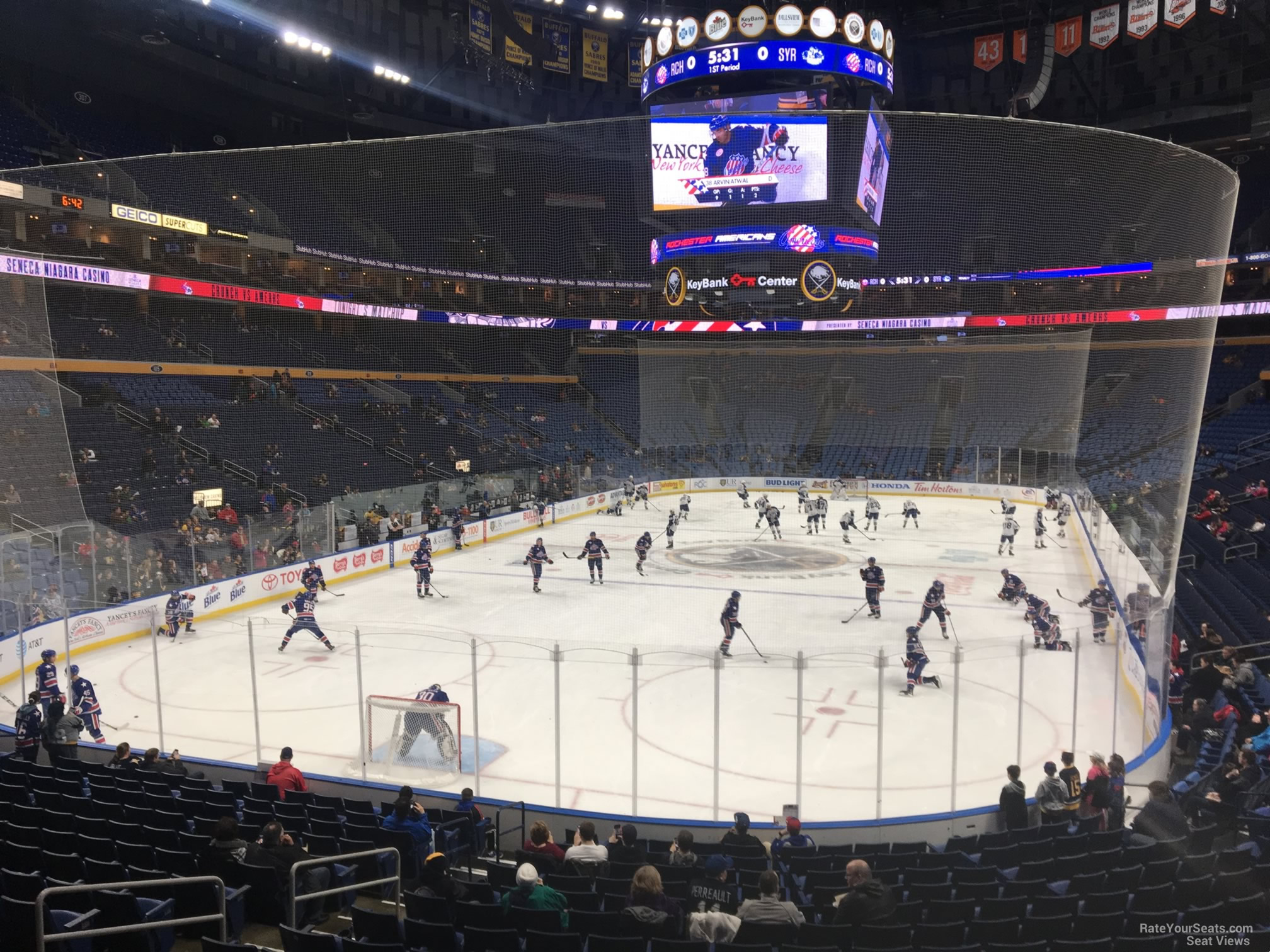 Buffalo Sabres Seat View for KeyBank Center Section 122