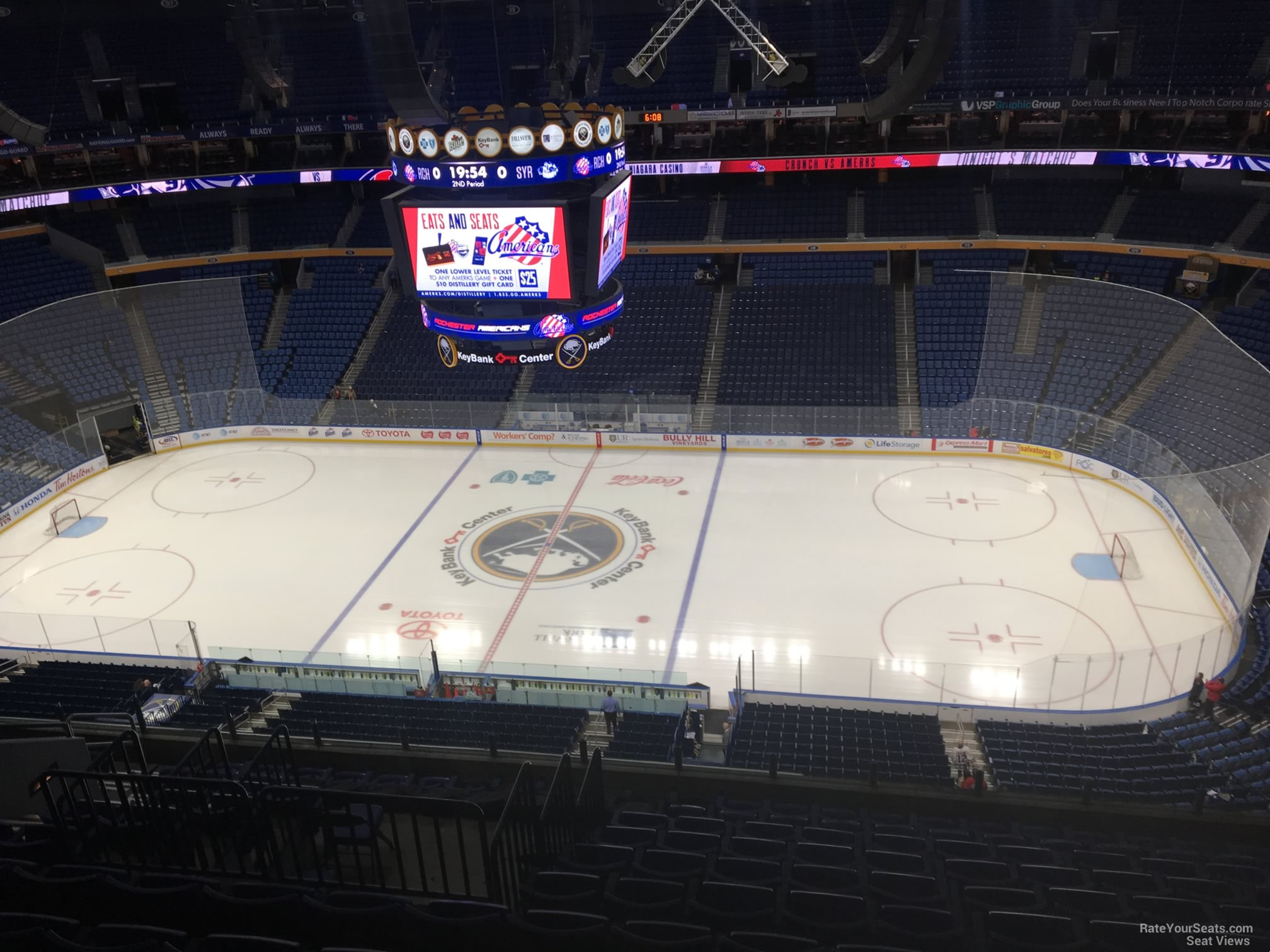 Buffalo Sabres Seat View for KeyBank Center Section 305, Row 13