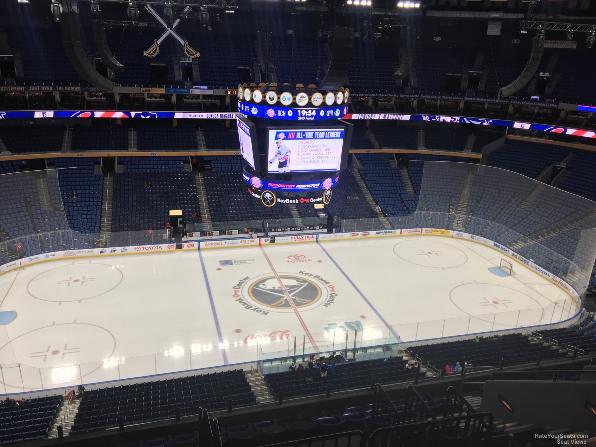 Buffalo Sabres Seat View for KeyBank Center Section 321, Row 13