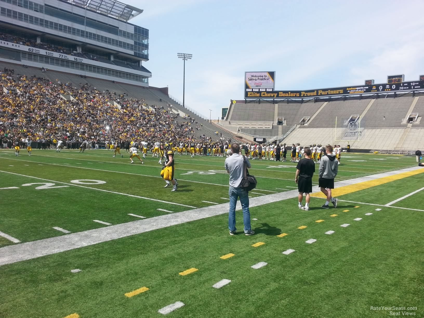 Seat View for Kinnick Stadium Section 108, Row F