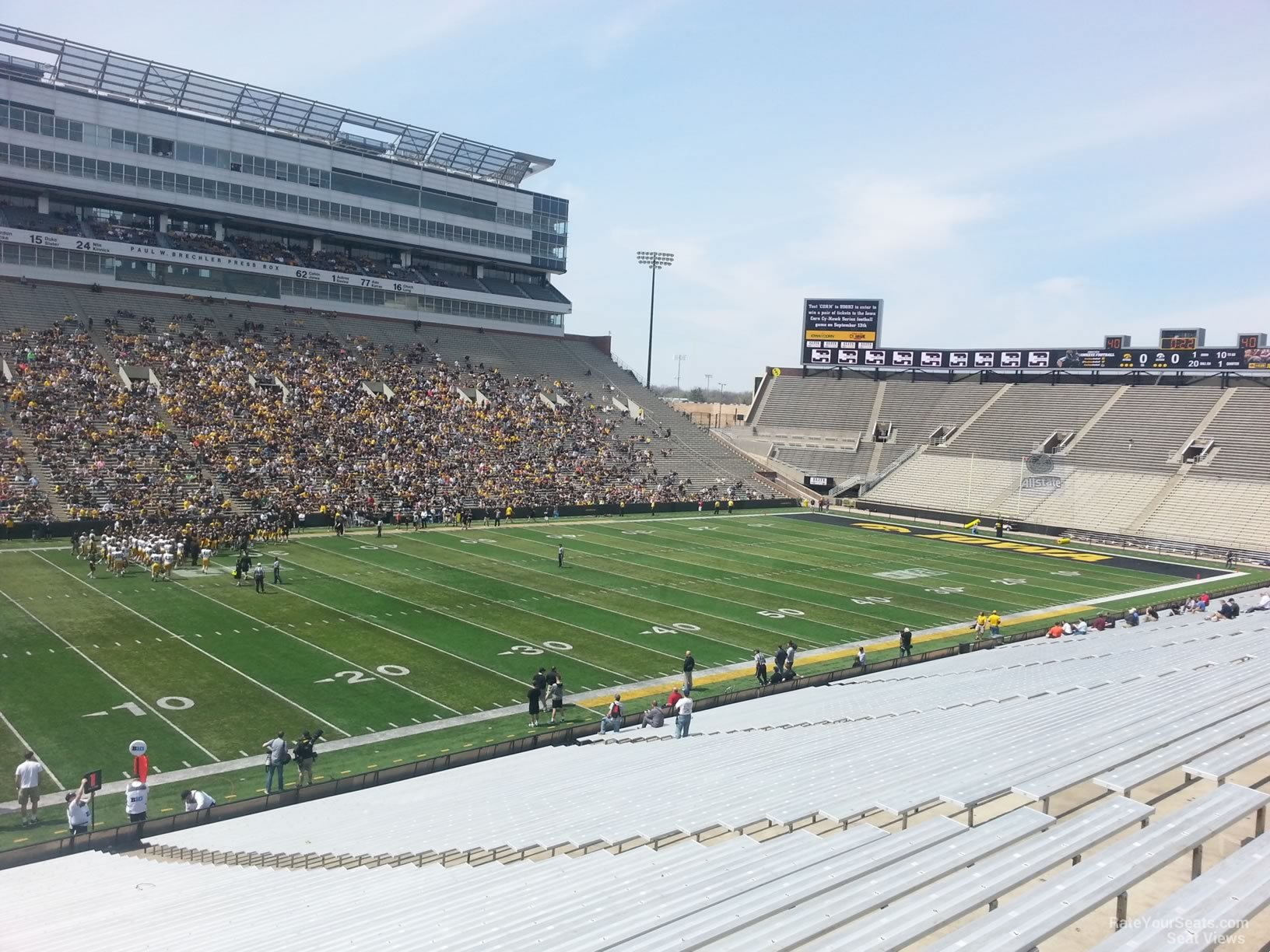 Kinnick Stadium Section 109 Rateyourseats Com