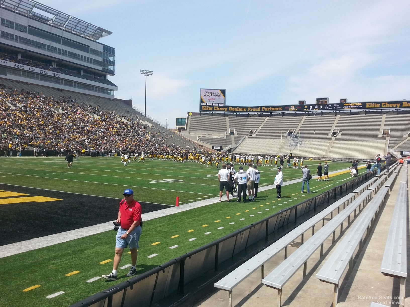 Seat View for Kinnick Stadium Section 110, Row F