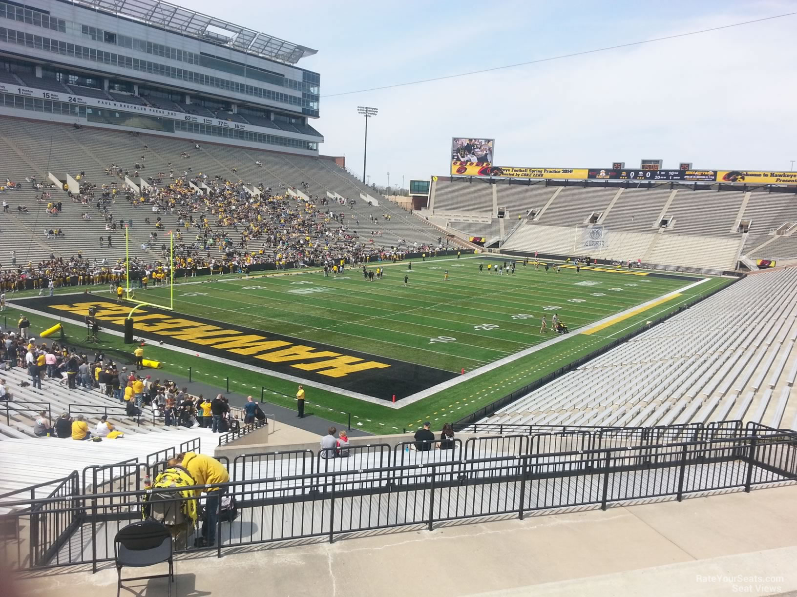 Seat View for Kinnick Stadium Section 211, Row F