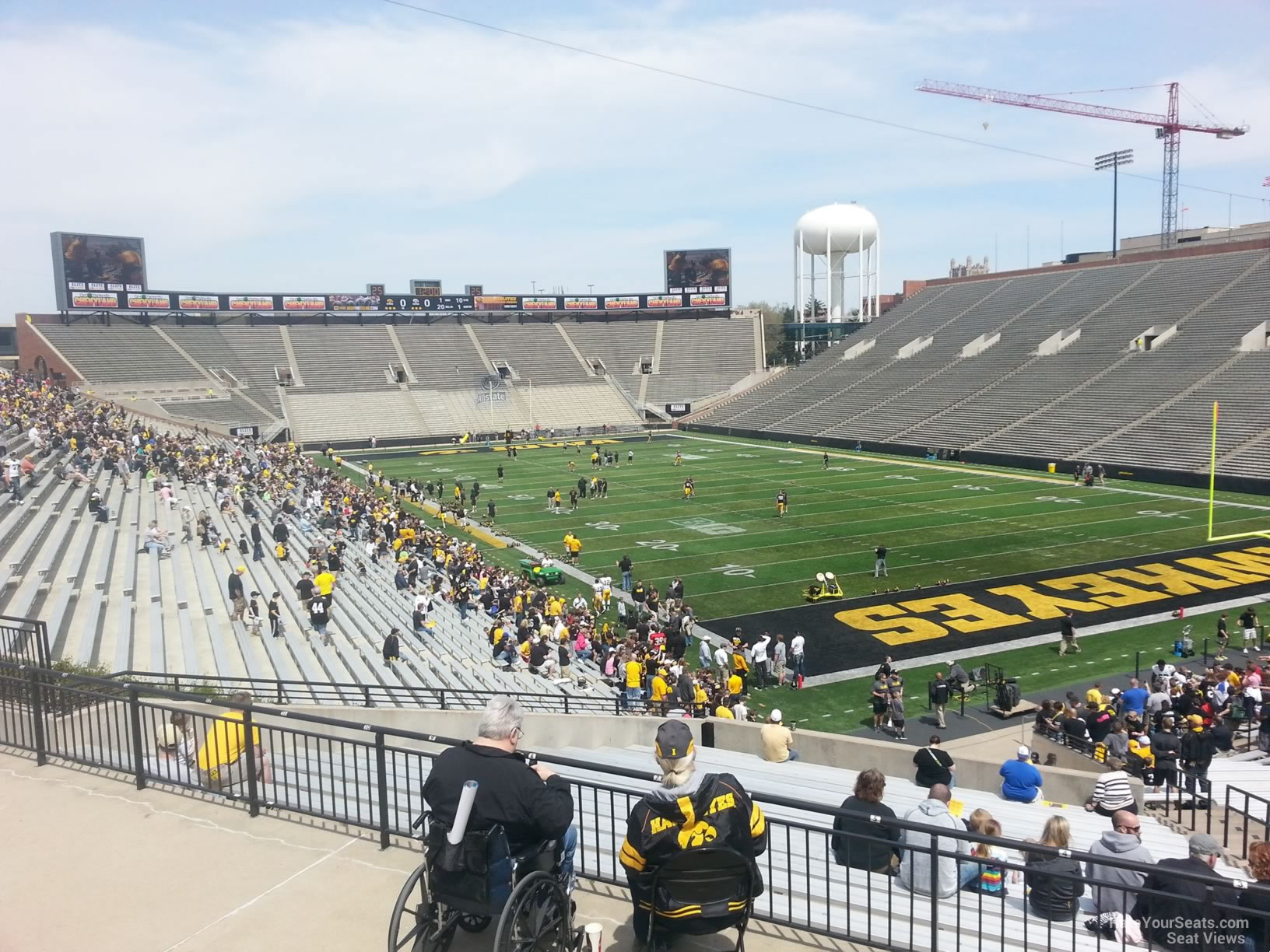 Seat View for Kinnick Stadium Section 221, Row F