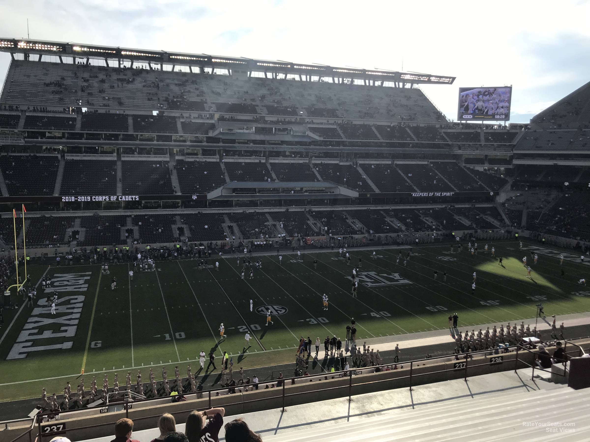 Seat View for Kyle Field Section 237, Row 20