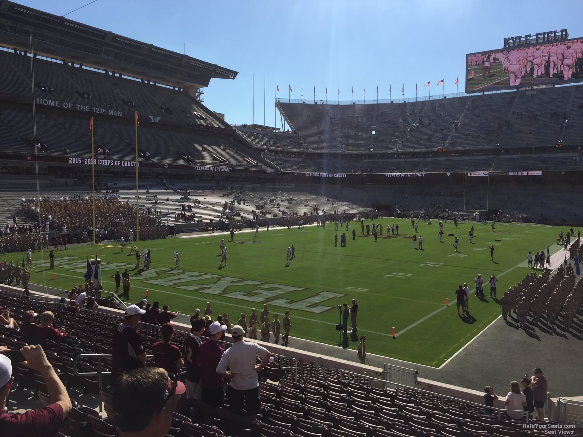 Seat View for Kyle Field Section 115, Row 20