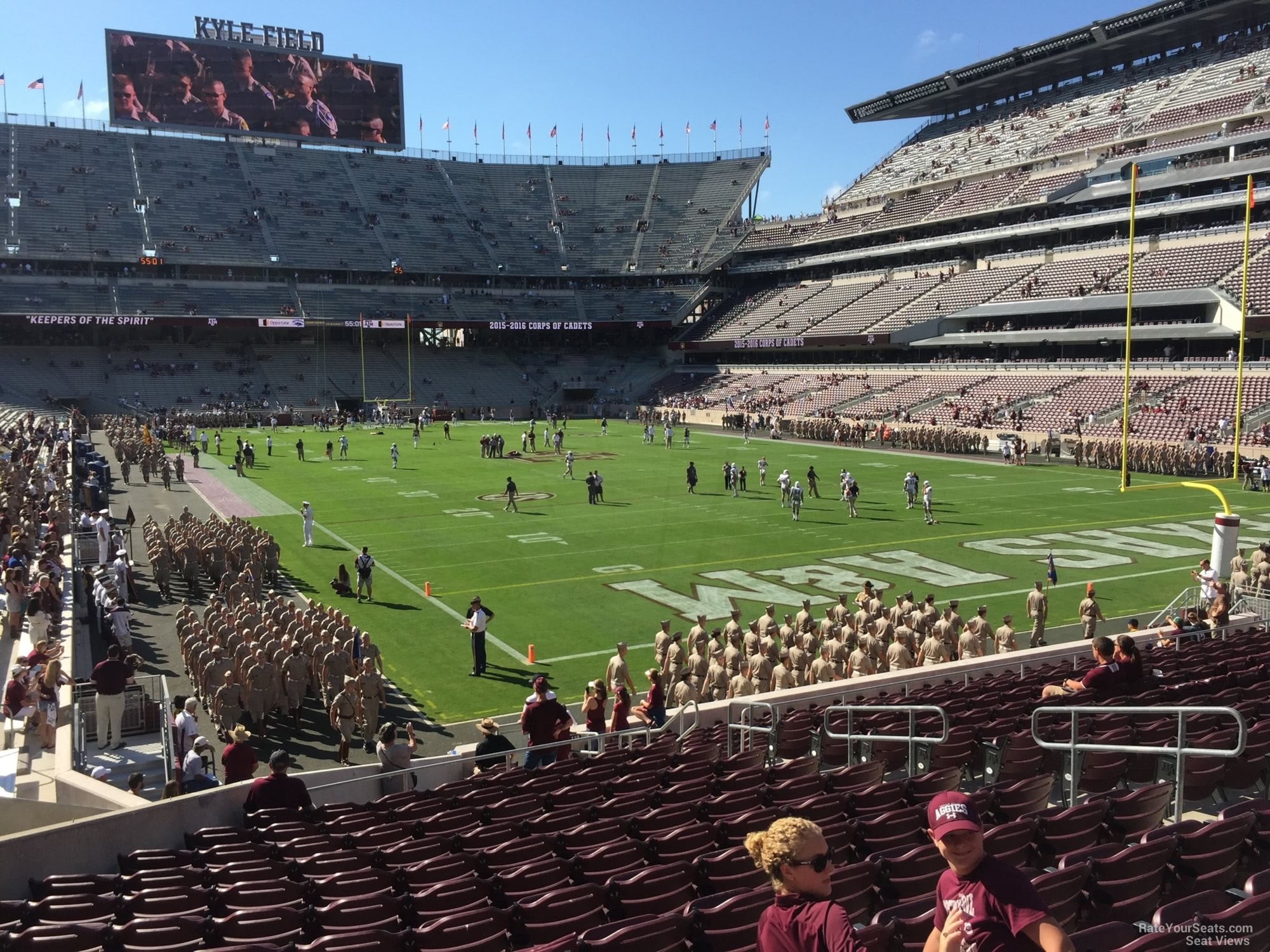 Seat View for Kyle Field Section 119, Row 20