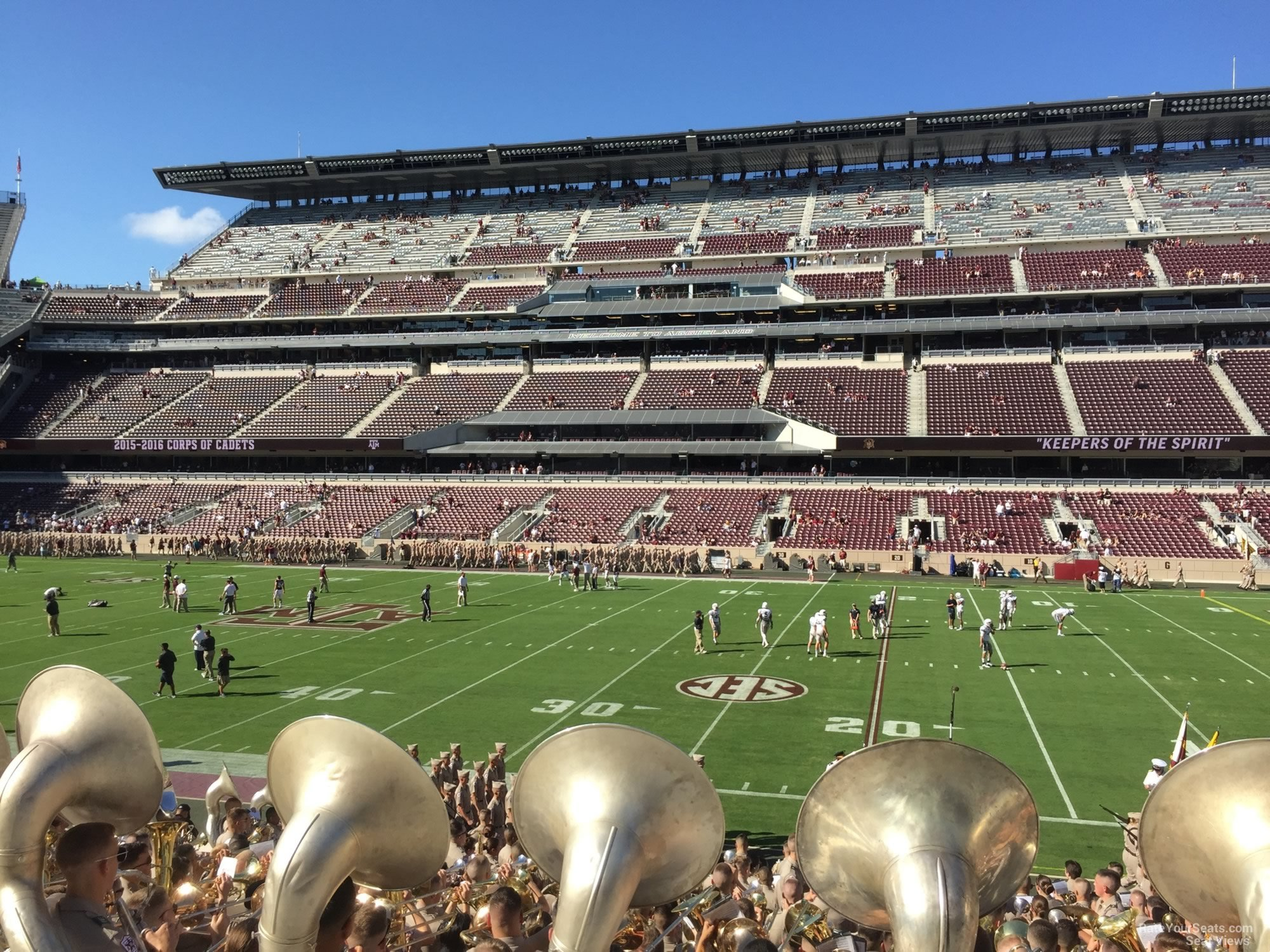 Seat View for Kyle Field Section 124, Row 20