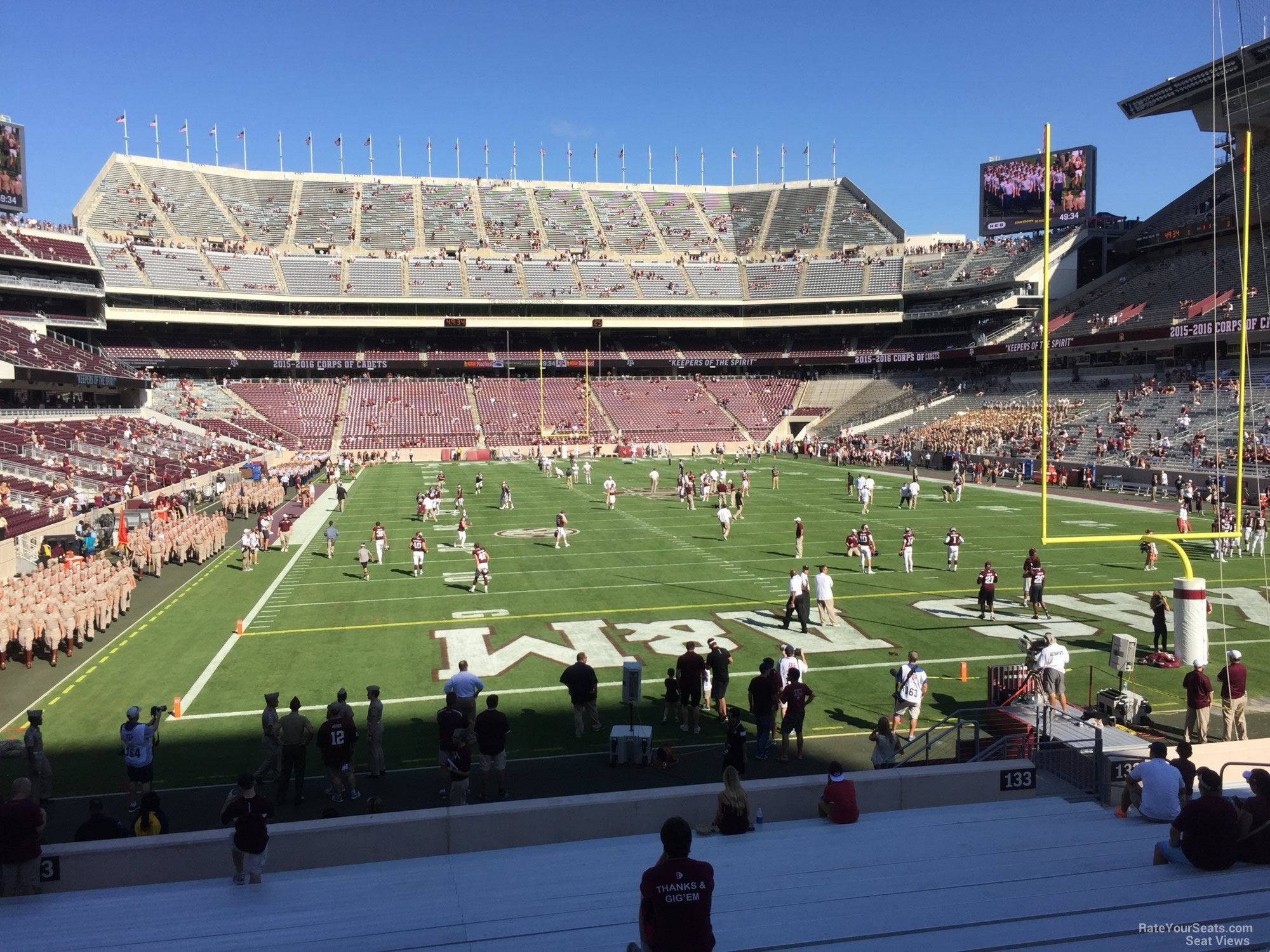 Seat View for Kyle Field Section 133, Row 20