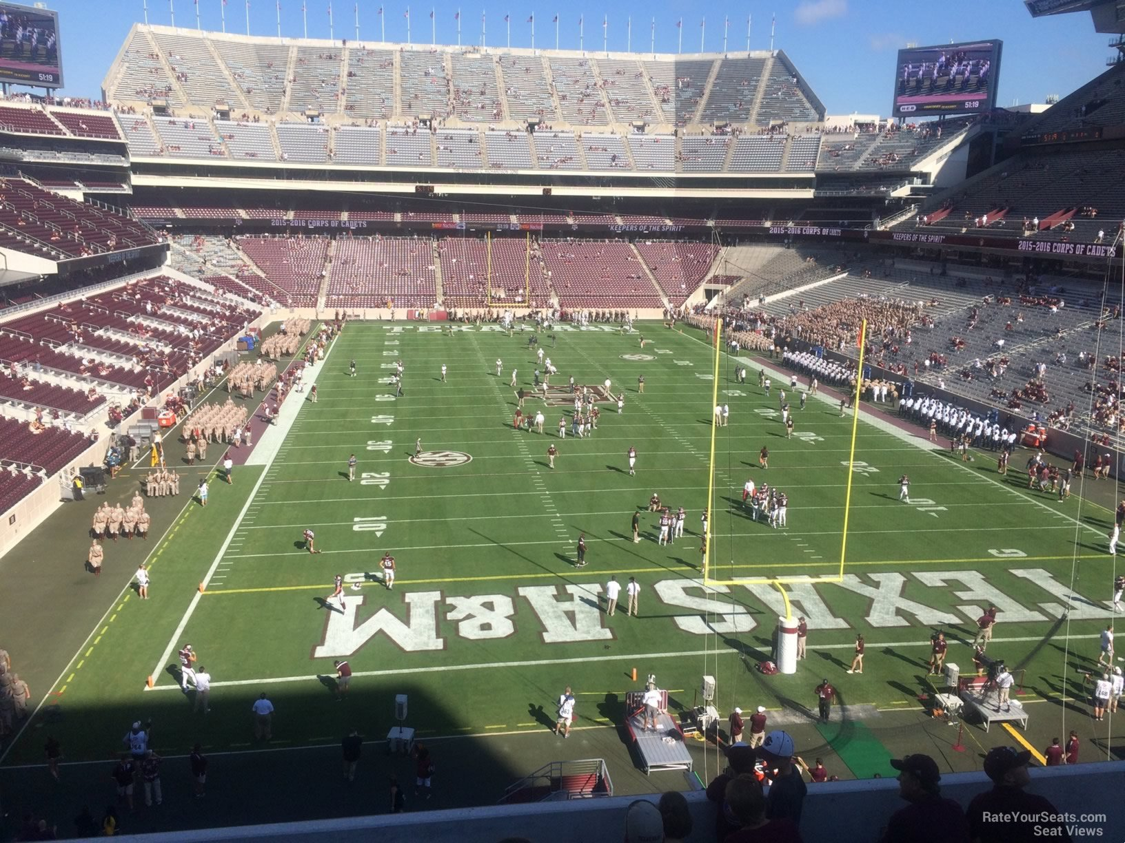 Seat View for Kyle Field Section 244, Row 7