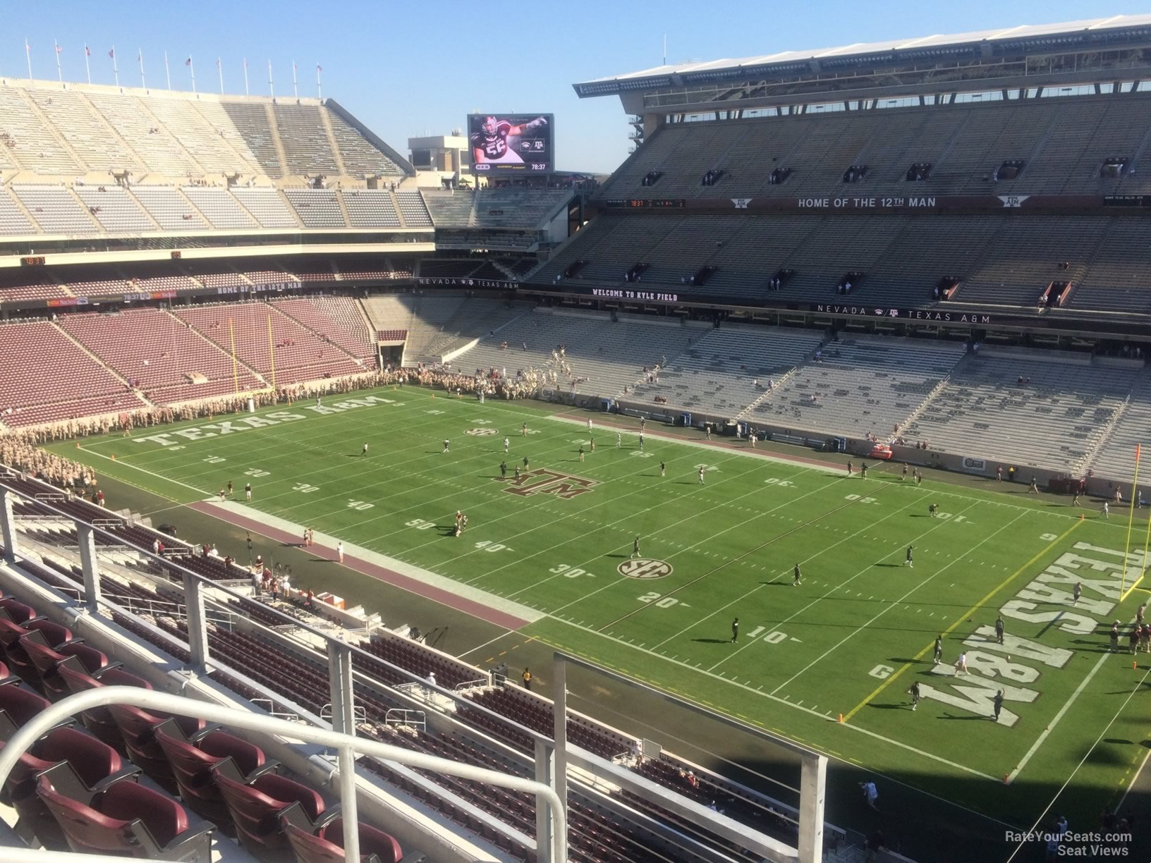 Seat View for Kyle Field Section 301, Row 3
