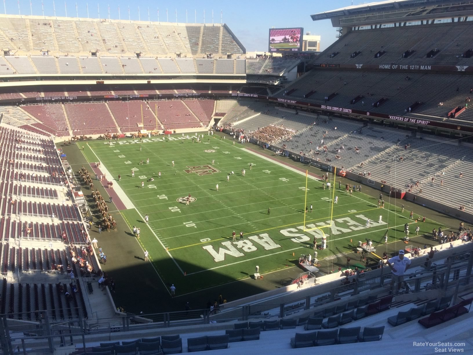 Seat View for Kyle Field Section 349, Row 14