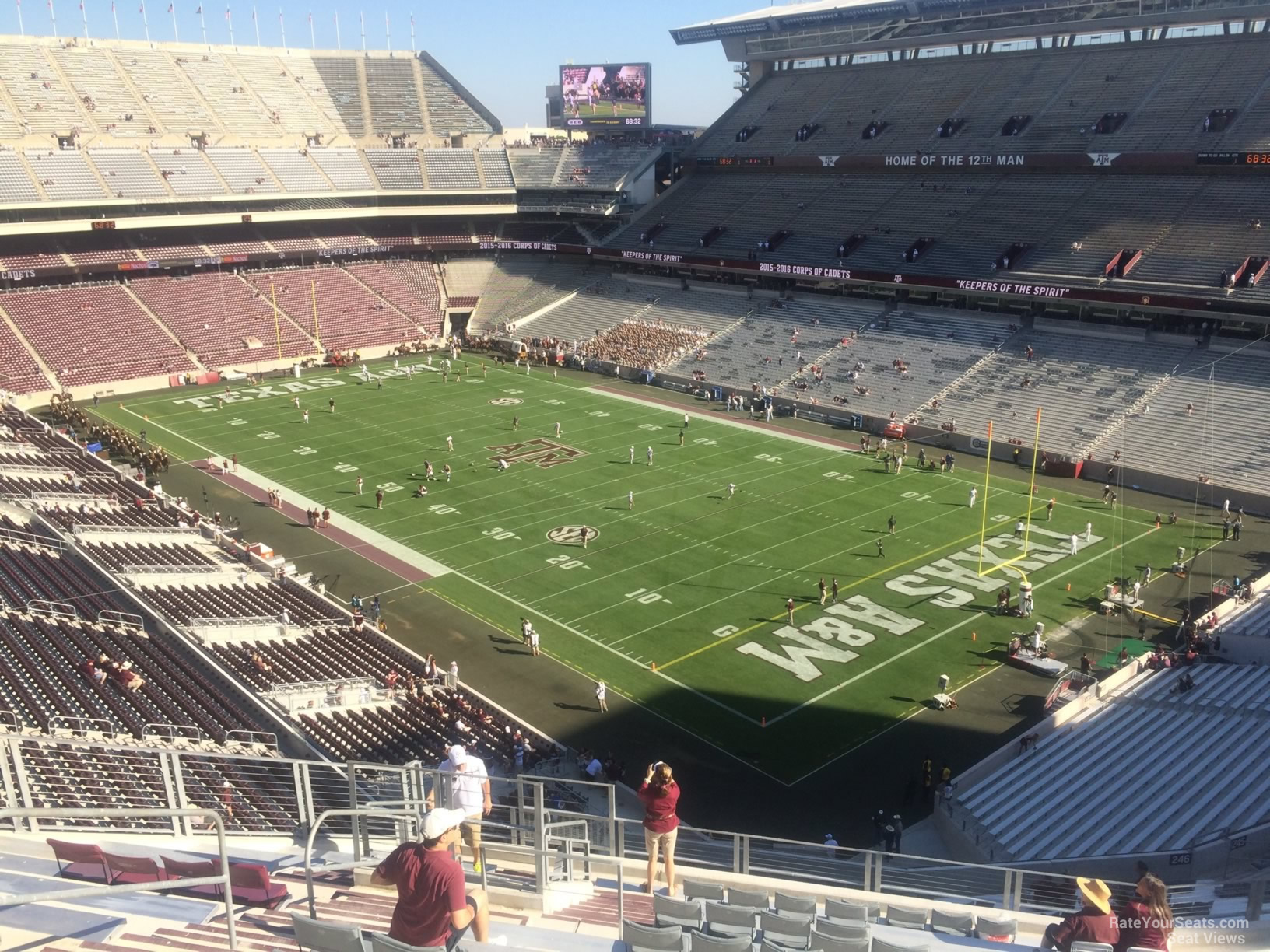 Seat View for Kyle Field Section 351, Row 14
