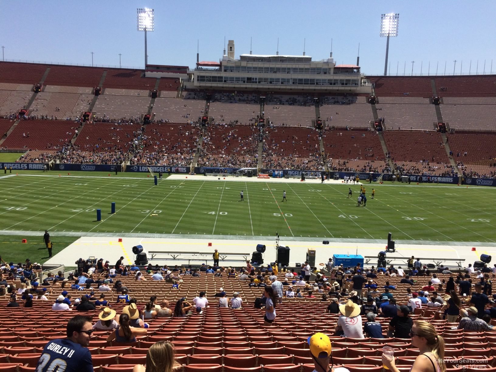Seat View for Los Angeles Memorial Coliseum Section 22