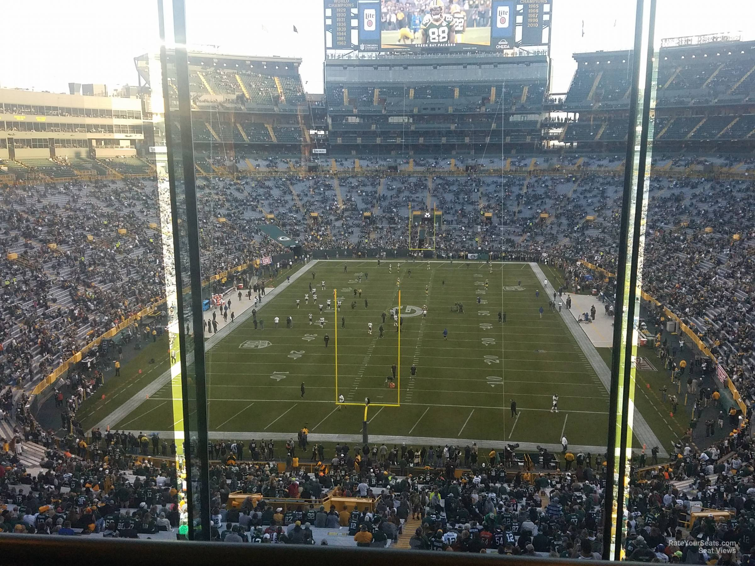 Seat View For Lambeau Field Section 482