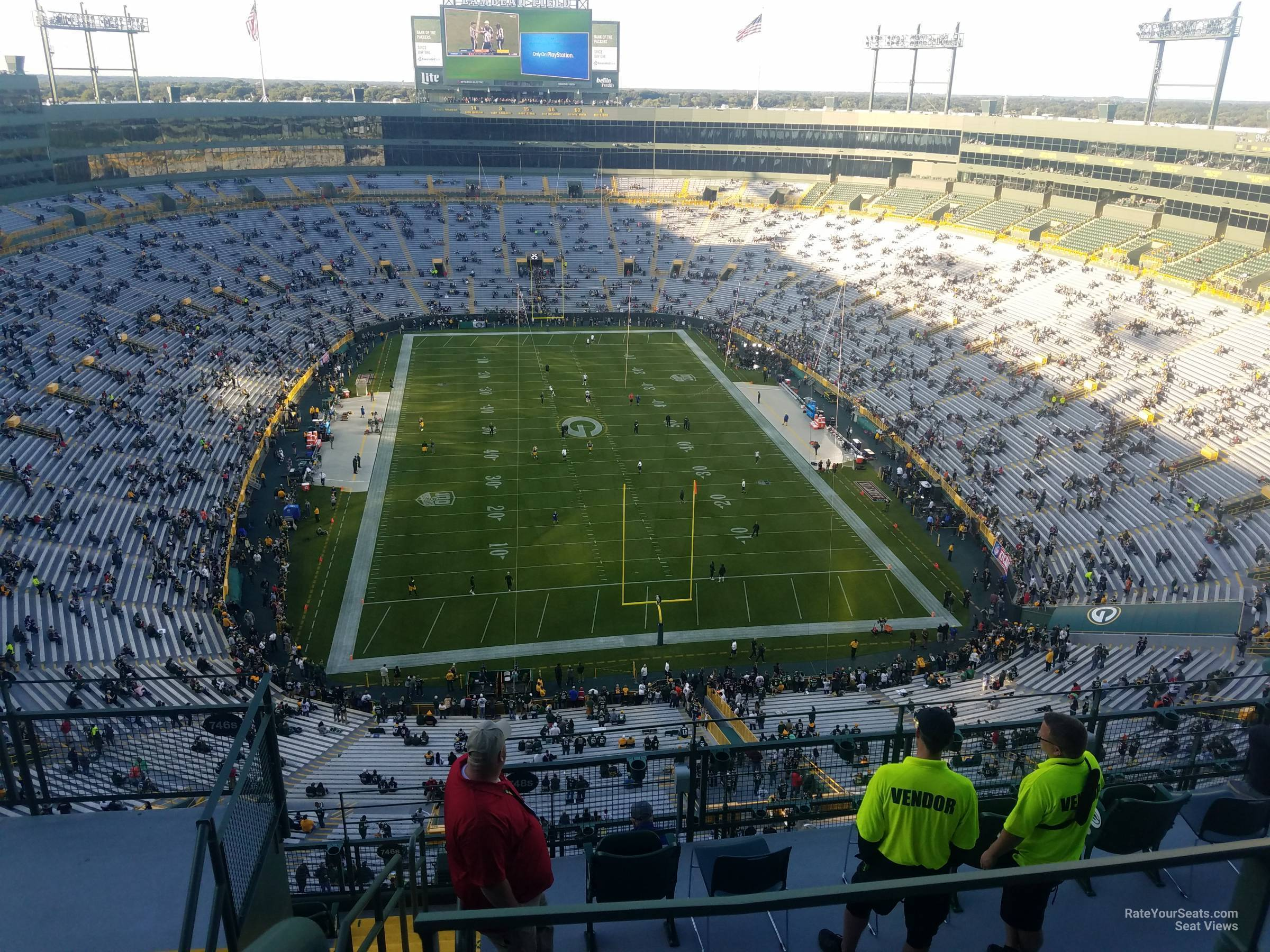 Section 748S seat view