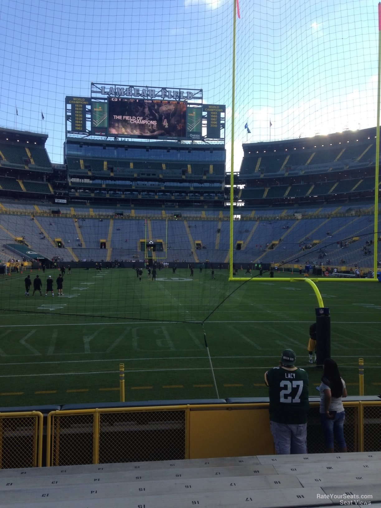 Lambeau field section 101 rateyourseats com