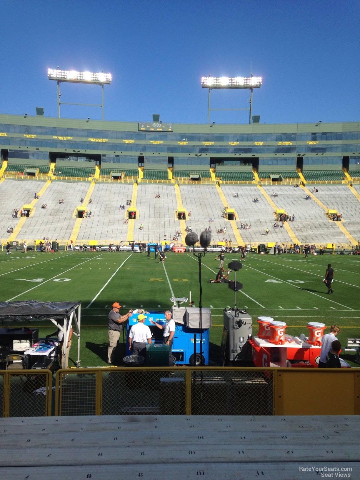 Lambeau Field Section 120 - RateYourSeats.com