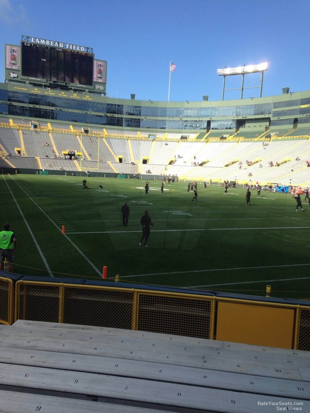 Lambeau field section 134 rateyourseats com