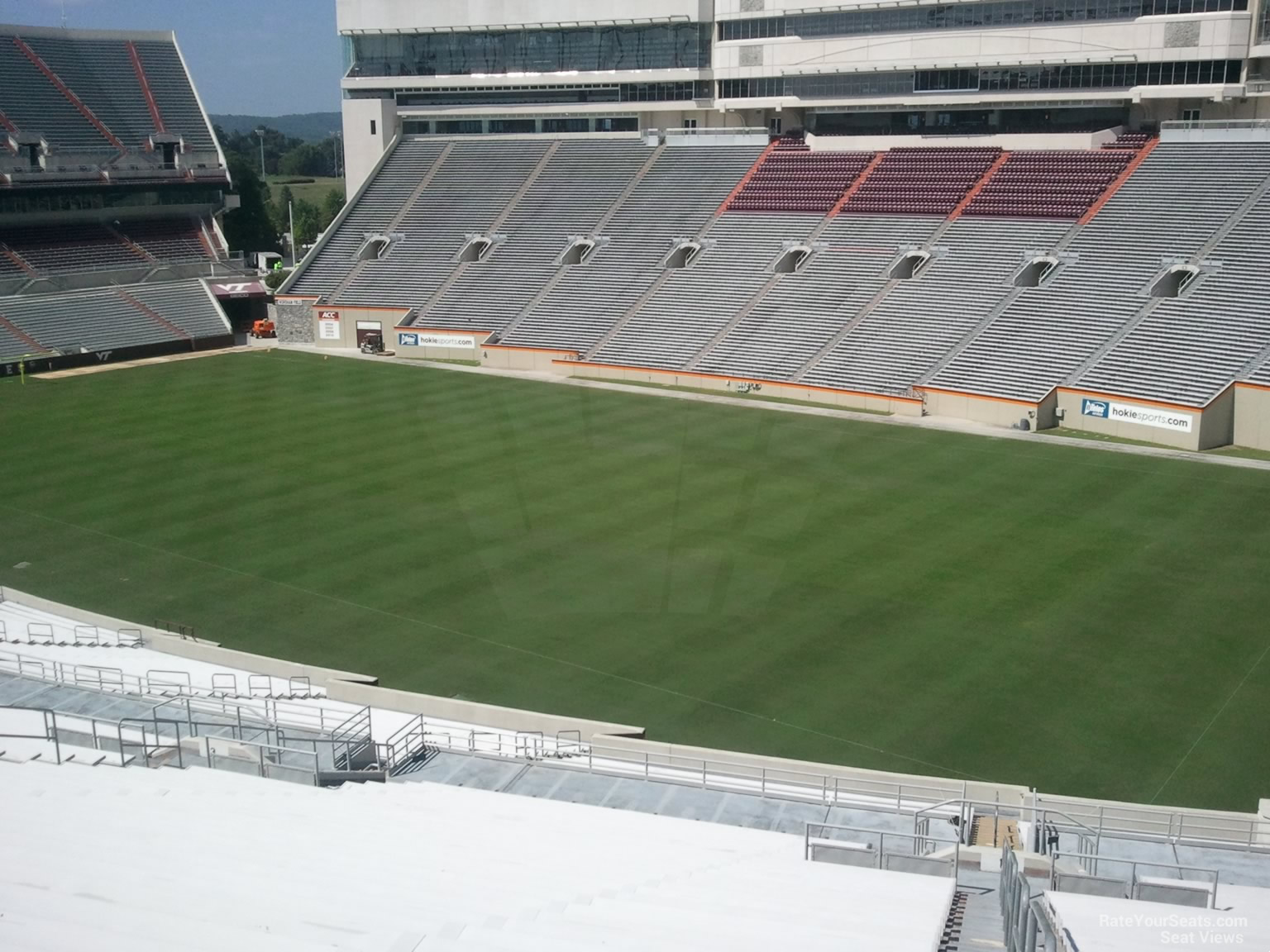 Seat View for Lane Stadium Section 1, Row RRR