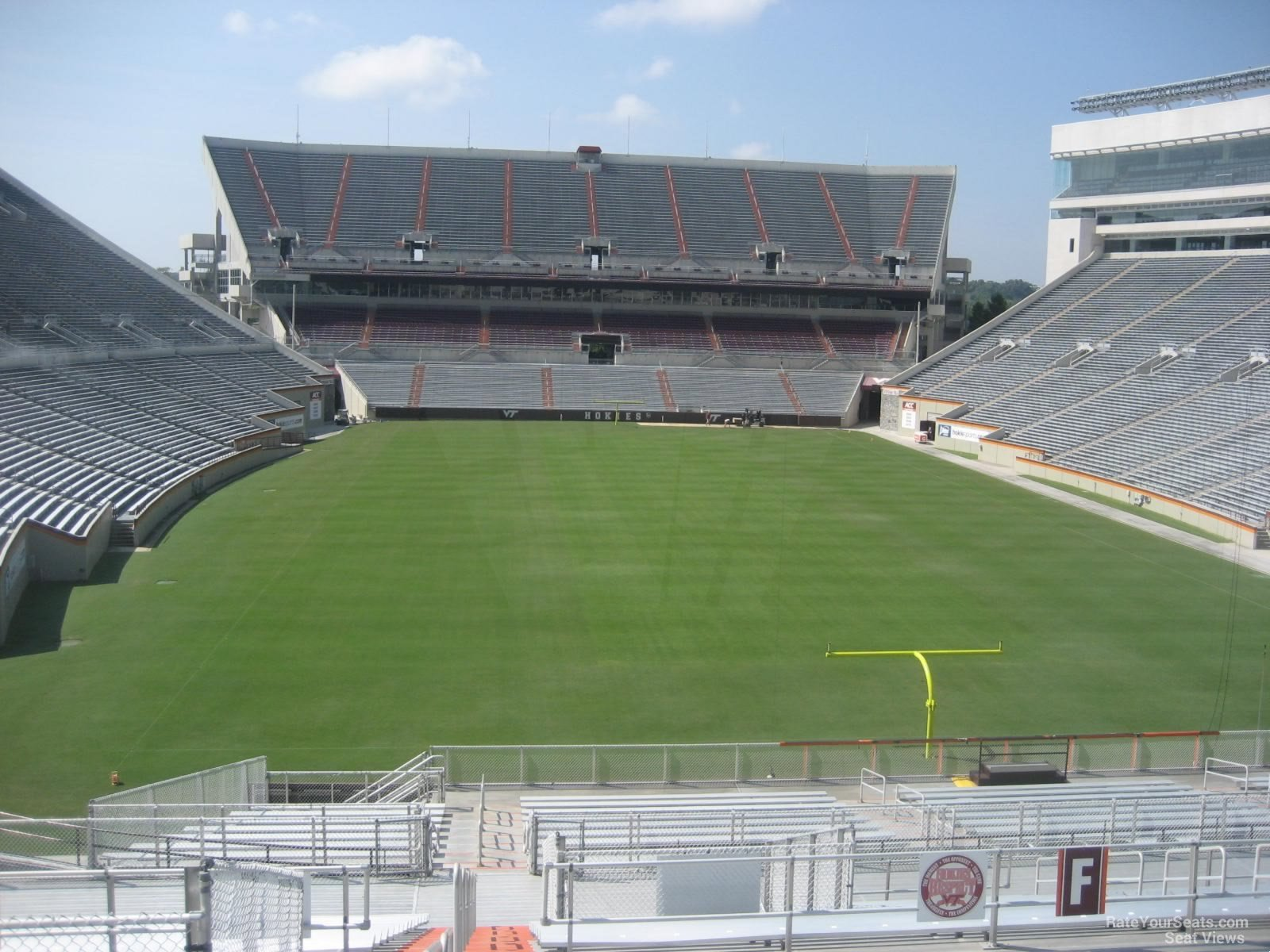 Section F seat view