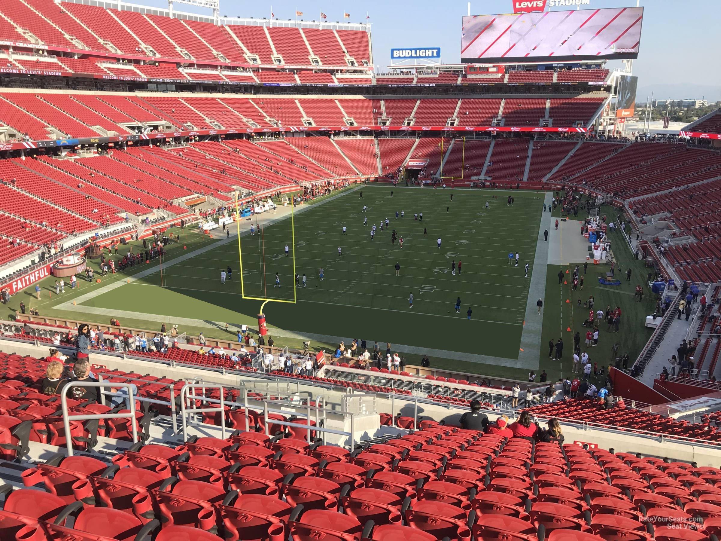 levi's stadium section 201 - rateyourseats