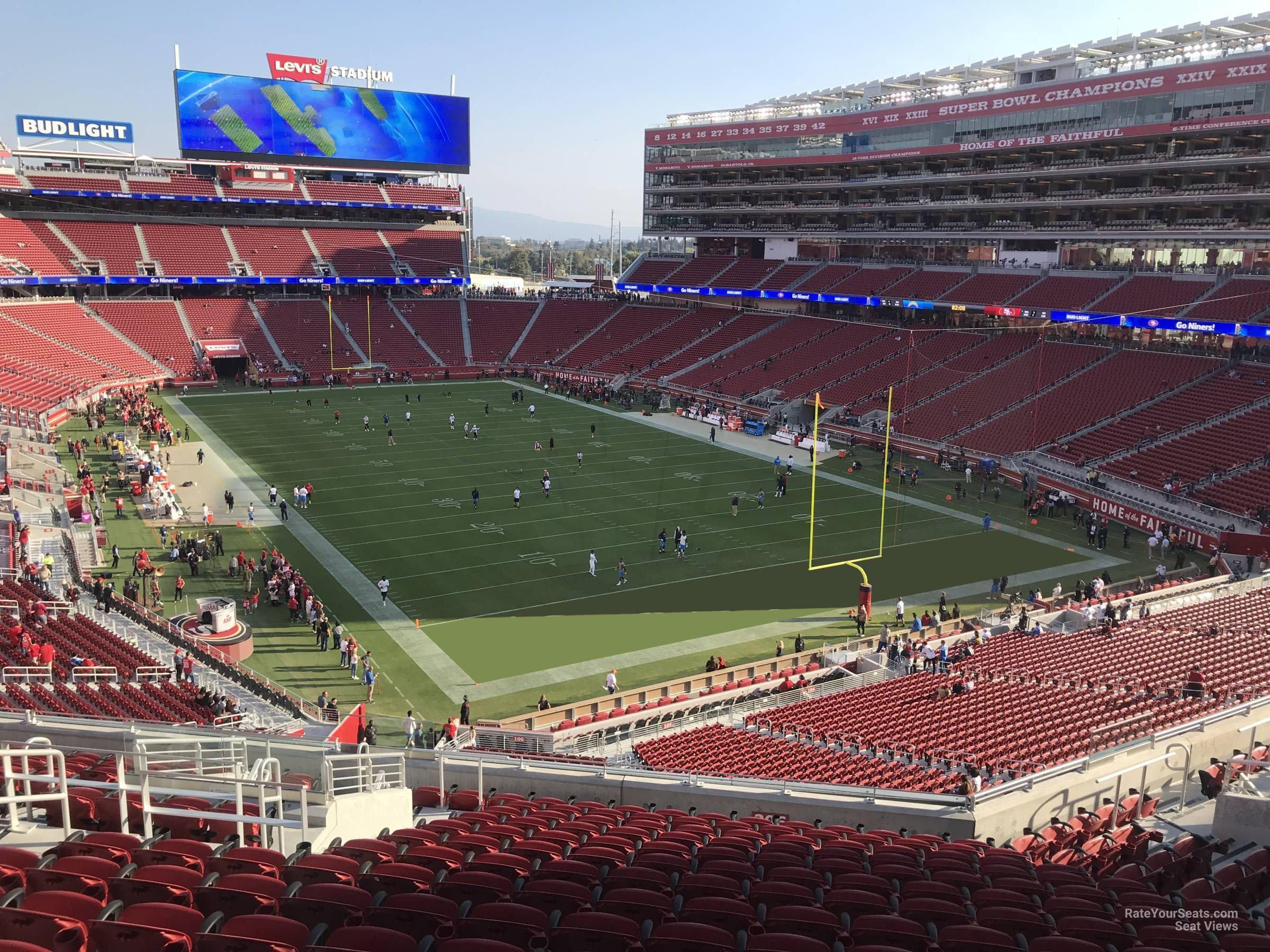levi's stadium section 206 - rateyourseats