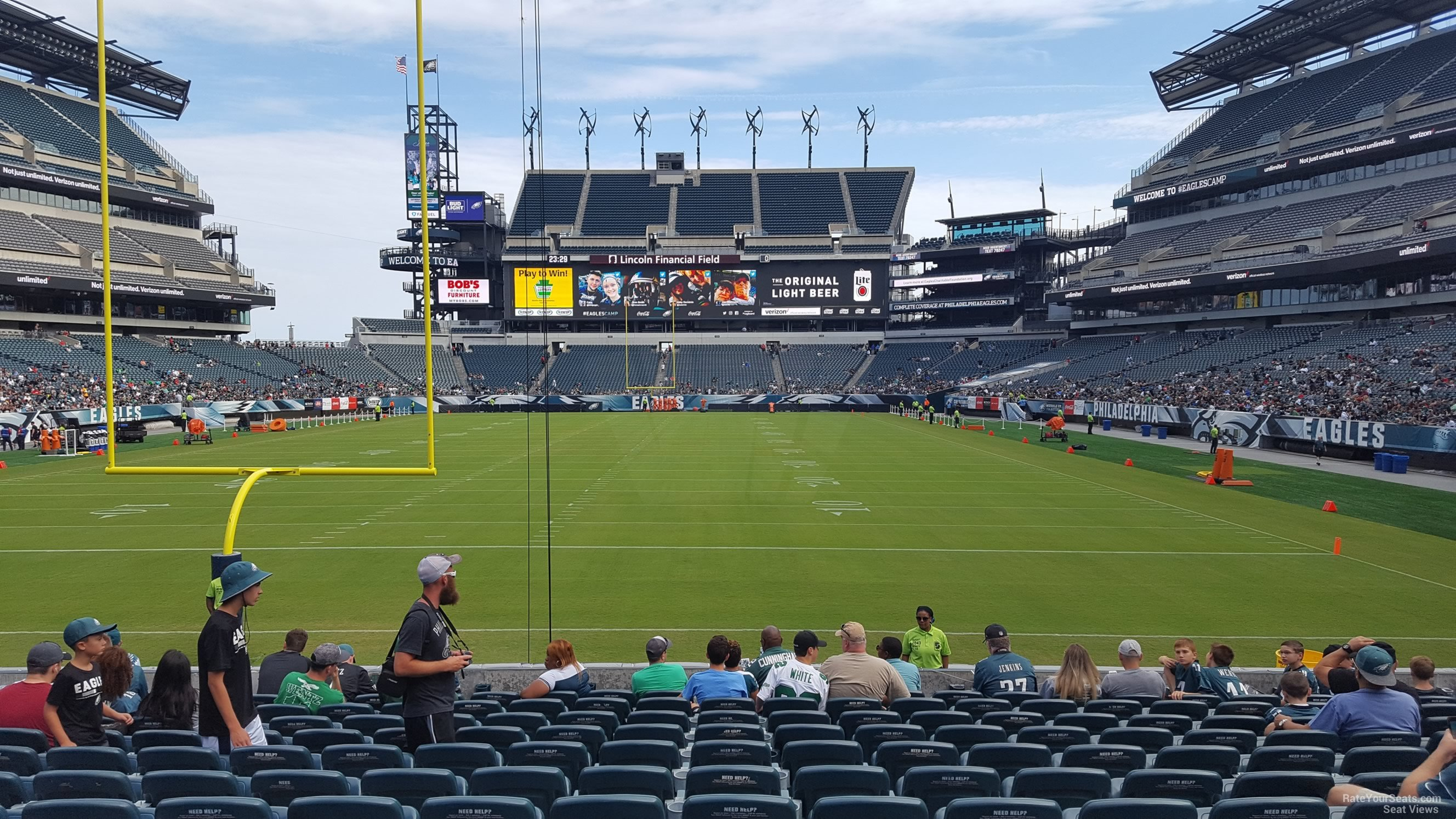 Seat View For Lincoln Financial Field Section 111