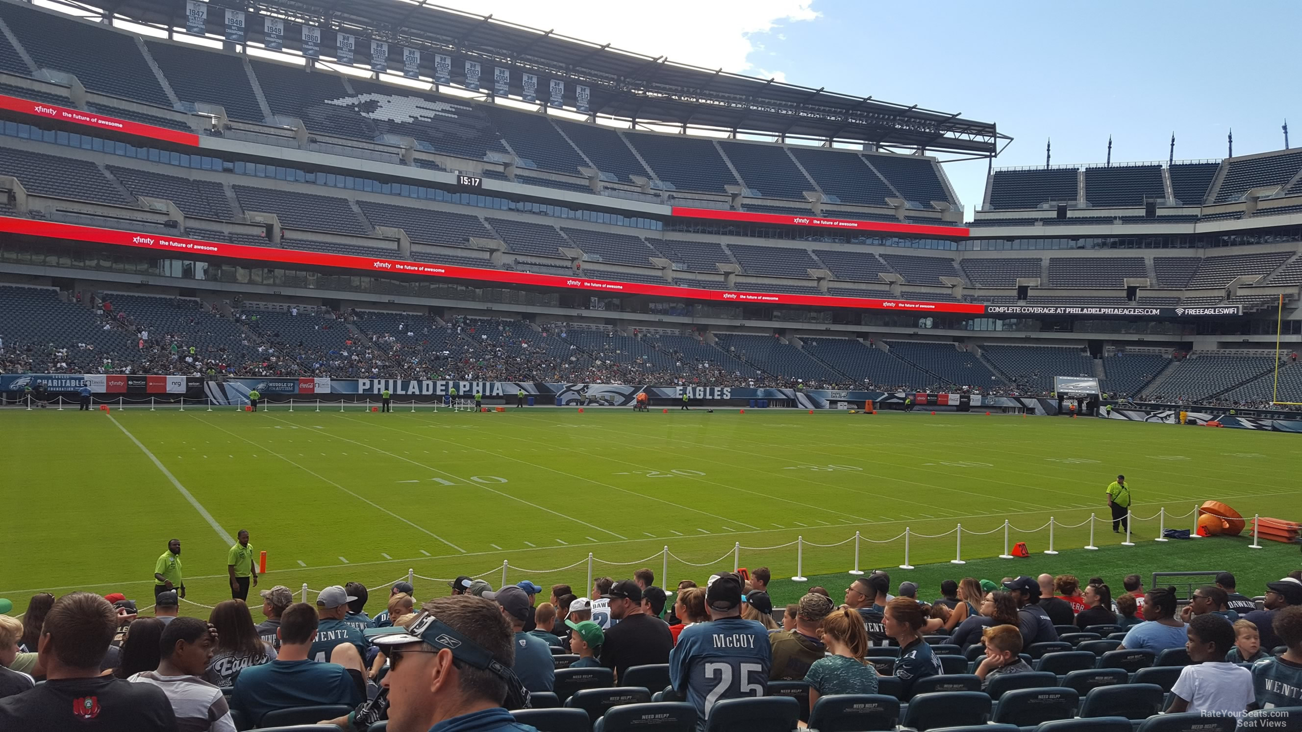 Section 135 seat view