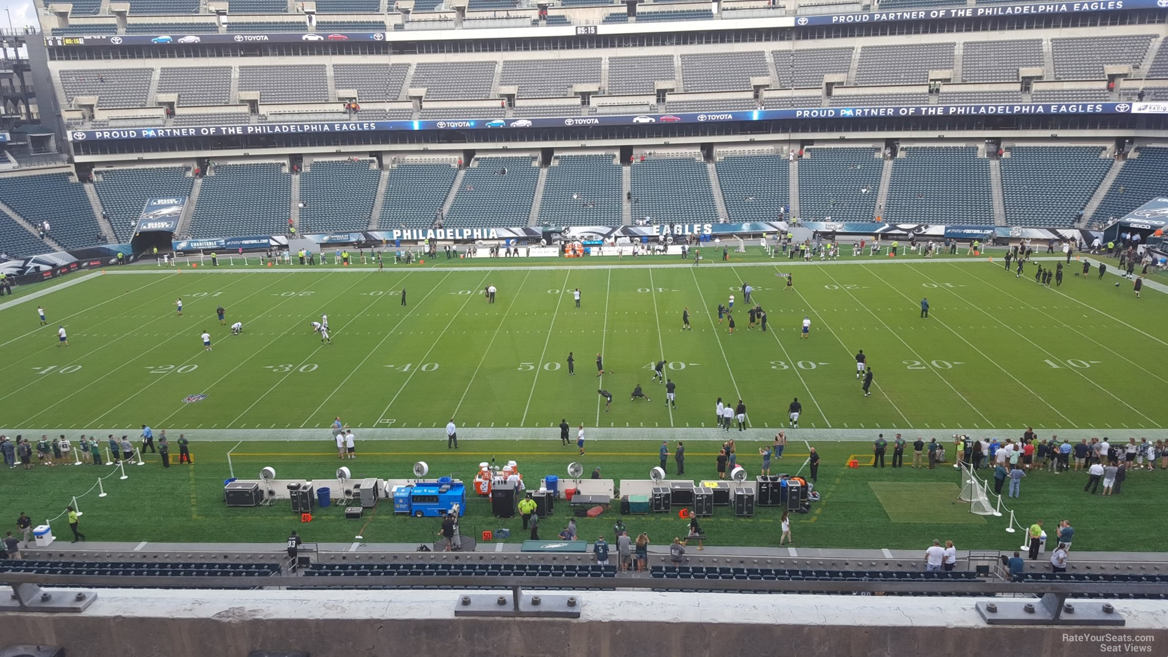 Seat View for Lincoln Financial Field Section C1, Row 7