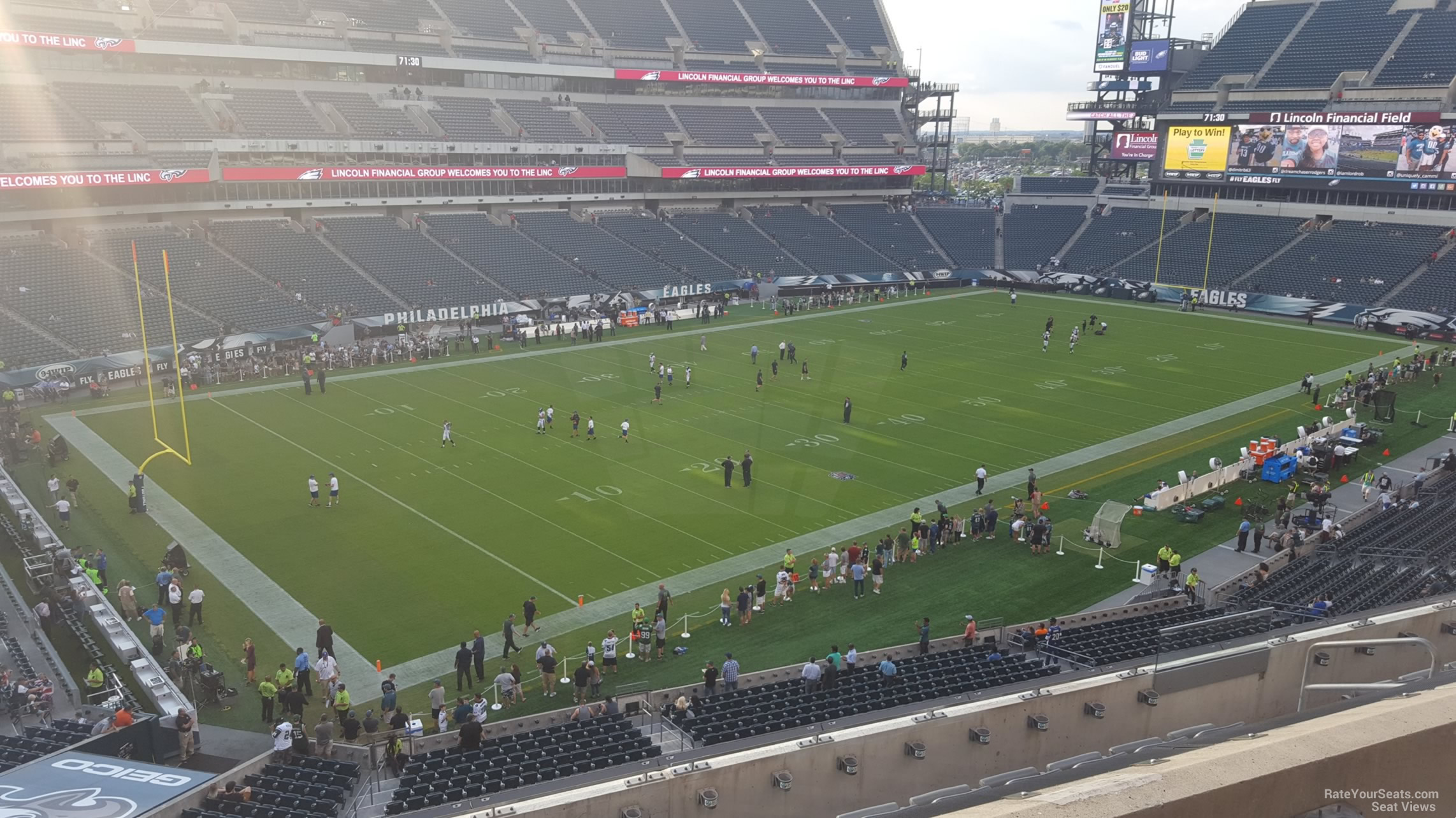 Seat View For Lincoln Financial Field Section C16