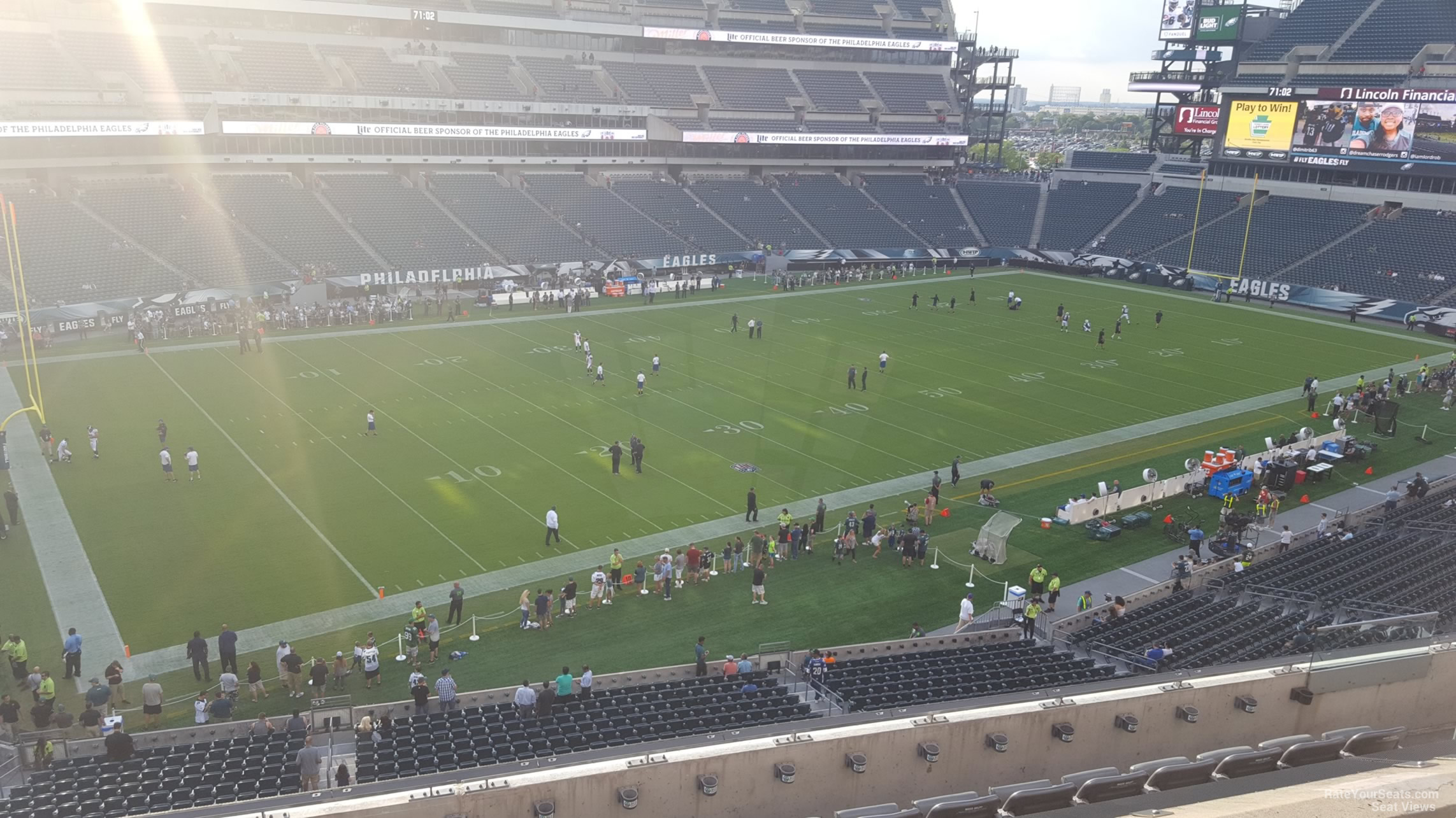 Club Level Lincoln Financial Field Football Seating