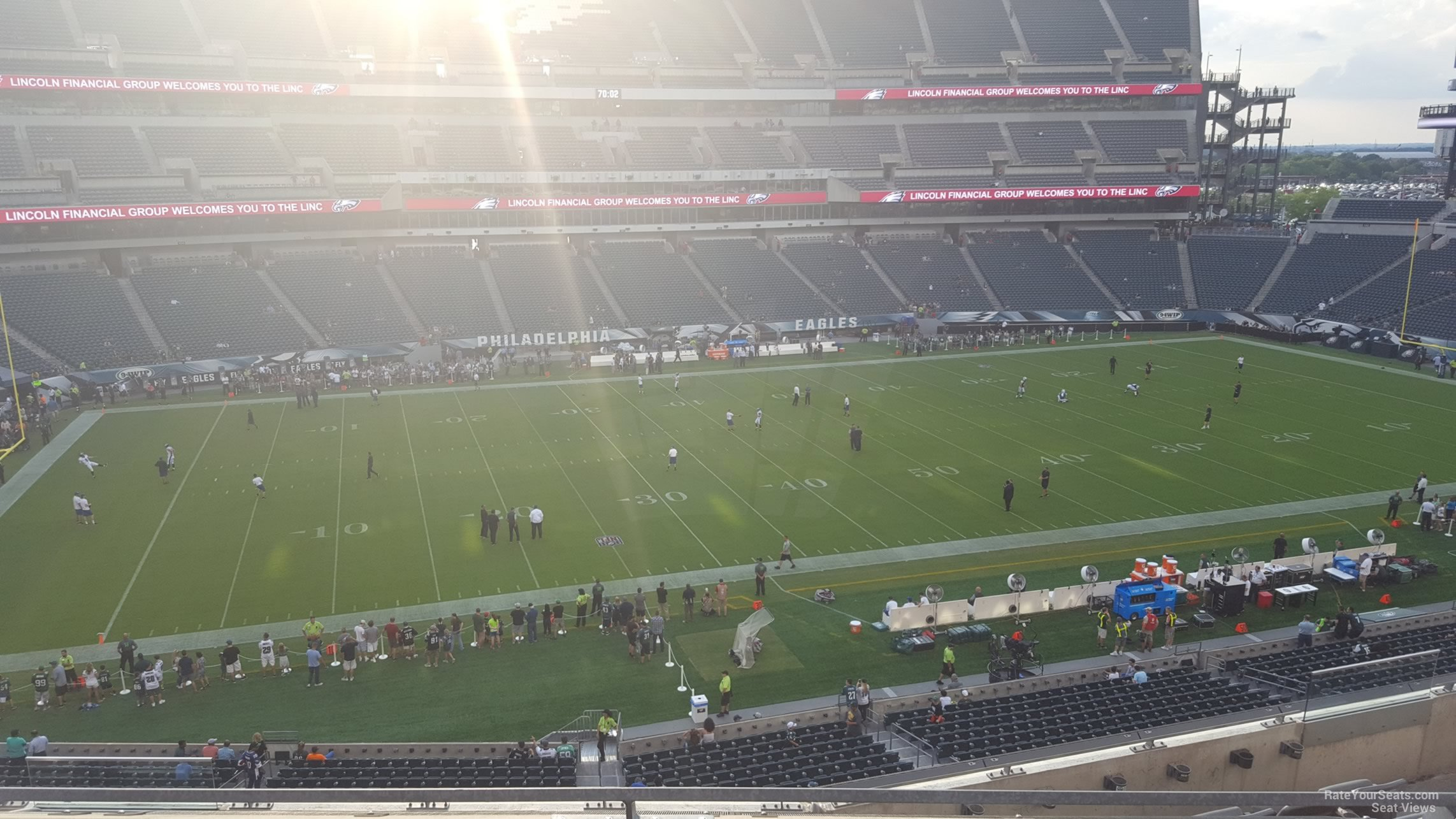 Seat View for Lincoln Financial Field Section C19, Row 7
