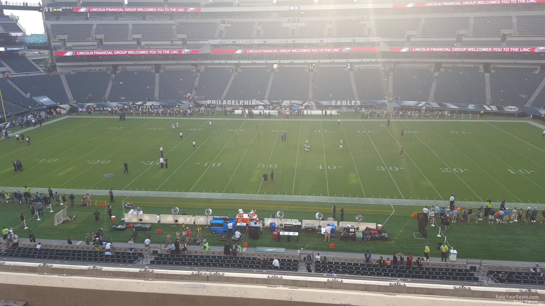 Seat View for Lincoln Financial Field Section C22, Row 7