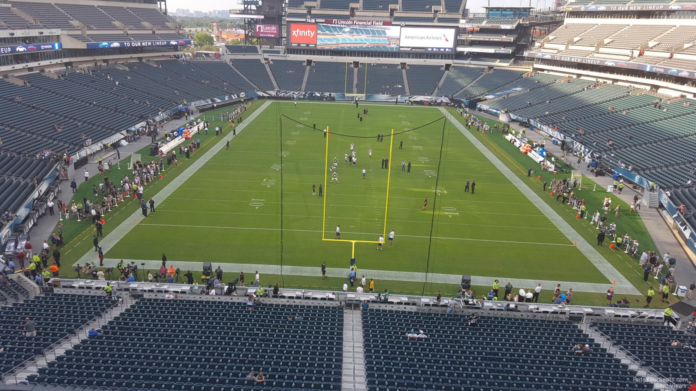 Lincoln Financial Field Section M11 Philadelphia Eagles