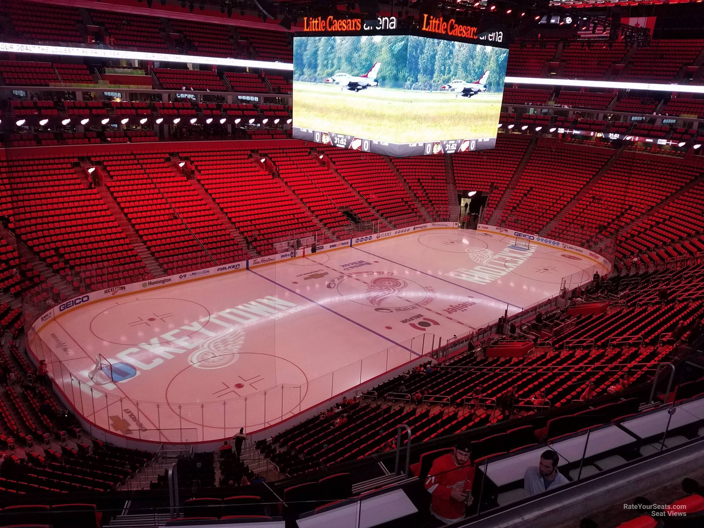 7f7f8fdca63 Detroit Red Wings Seat View for Little Caesars Arena Mezzanine 33