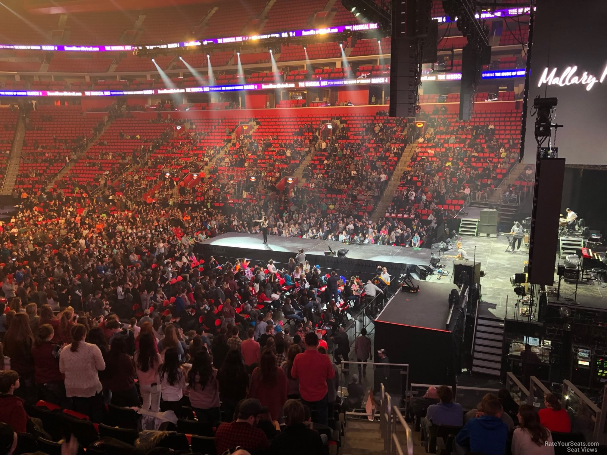 Concert Seat View For Little Caesars Arena Section 106