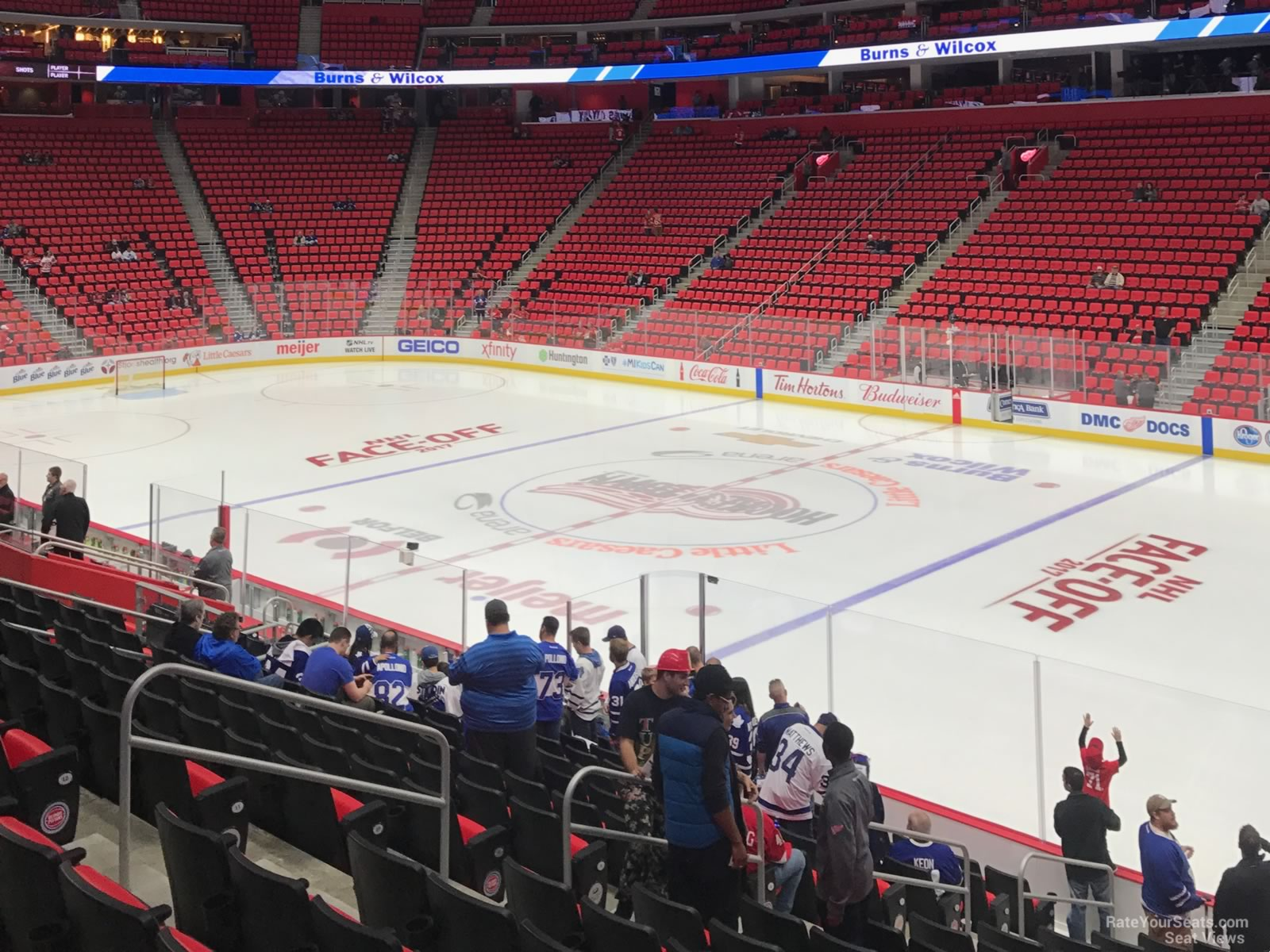 Detroit Red Wings Arena >> Little Caesars Arena Section 119 - Detroit Red Wings - RateYourSeats.com