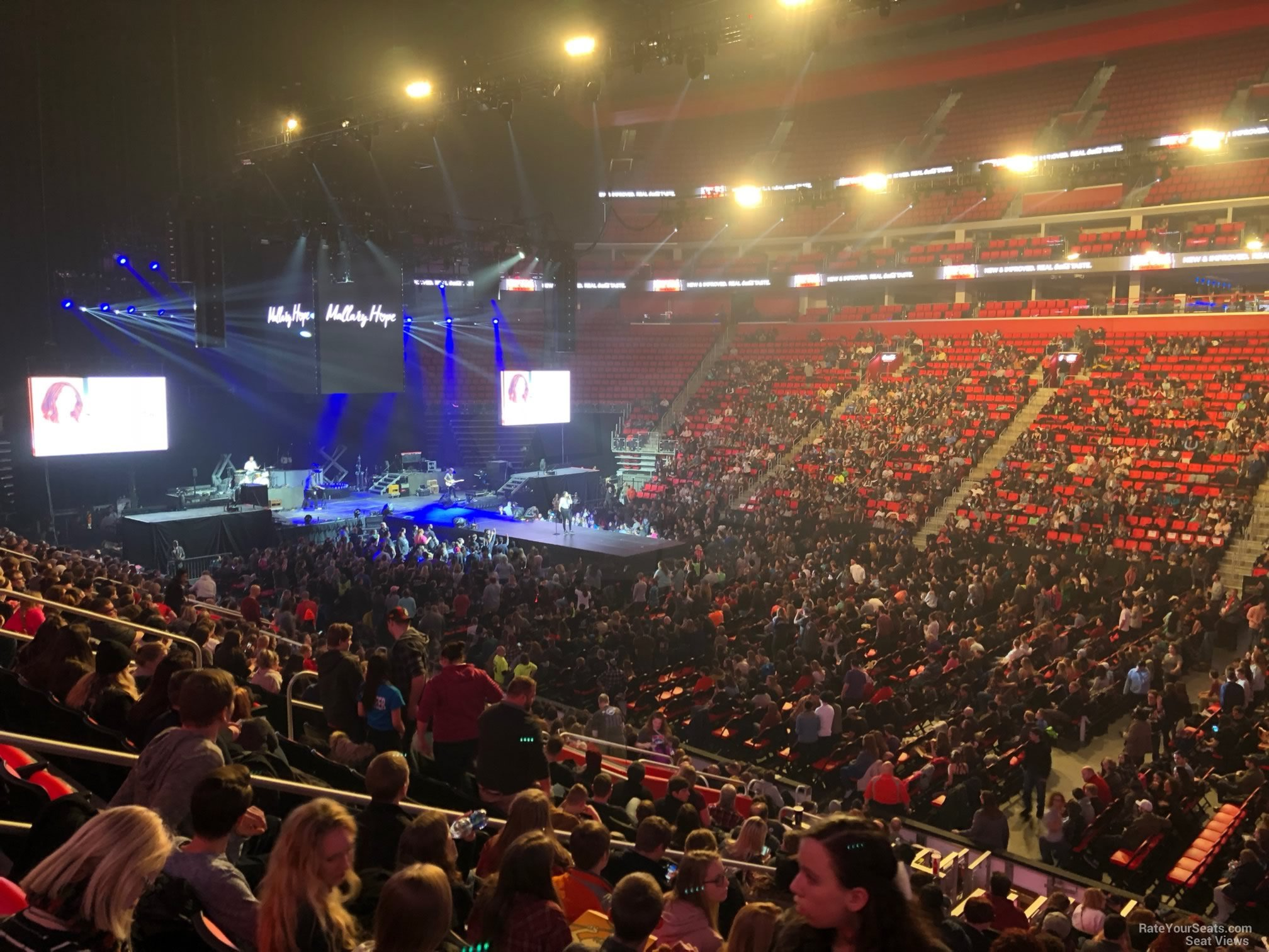 Little Caesars Arena Section 120 Concert Seating - RateYourSeats.com