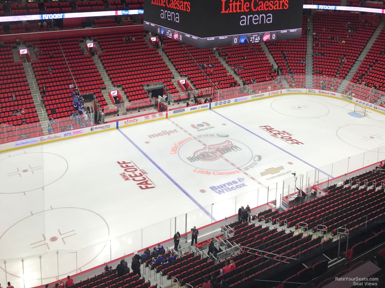 Little Caesars Arena Section 214 Detroit Red Wings Rateyourseats Com